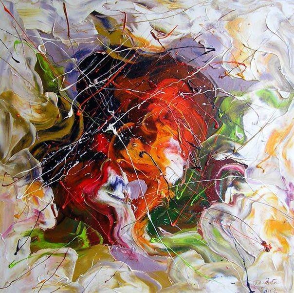 «Мать и дитя»           холст, масло «Mother and child»    oil on canvas  50x50,  2010
