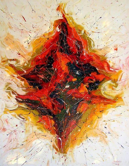 «Танец Шивы»      холст, масло «Dance of Shiva»    oil on canvas                                              90x70,  2007