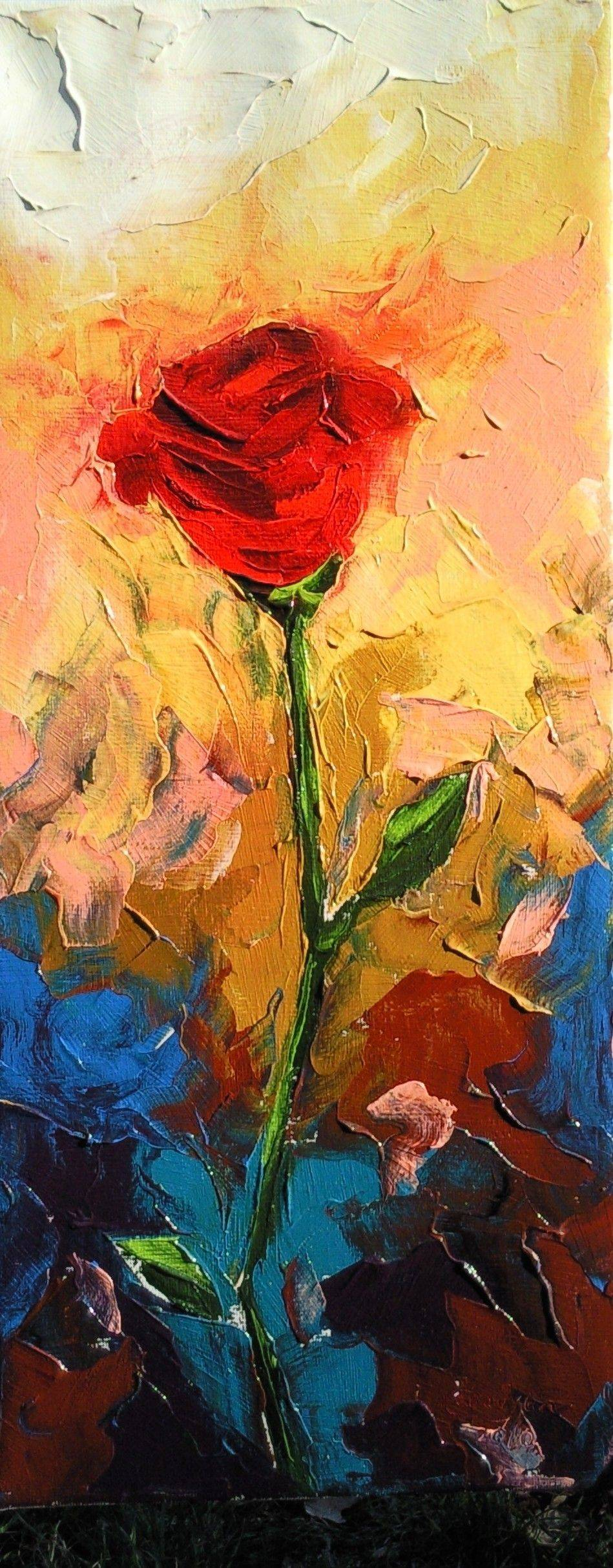 «Роза»              холст, масло «Rose»               oil on canvas                                              70x30,  2012