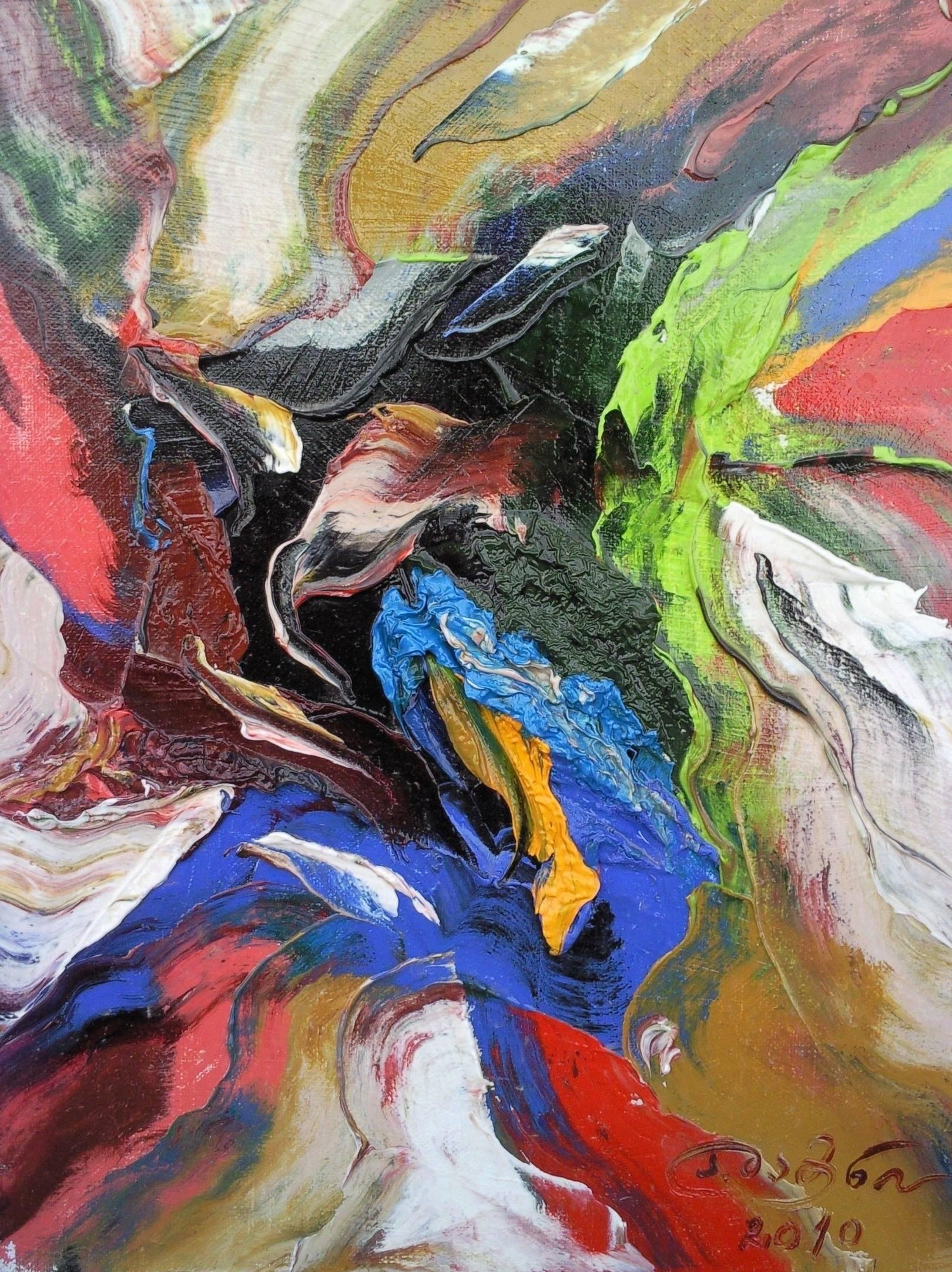 «Русалка на берегу моря»                  холст, масло «The mermaid on the seashore»          oil on canvas                                                  30x24,  2010
