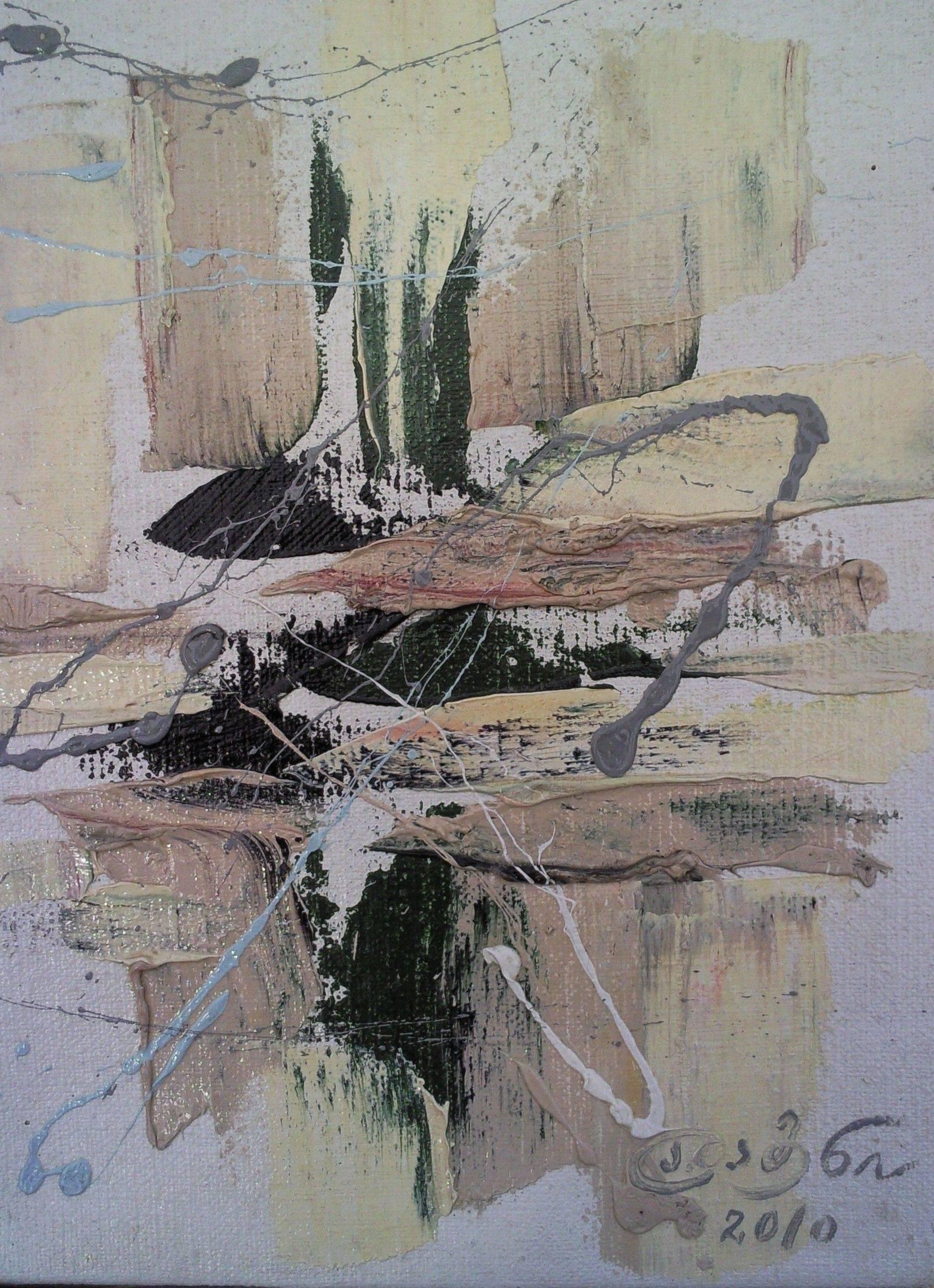«Джаз вариация»     холст, масло «Jazz variation»         oil on canvas                                                                               30x24, 2010