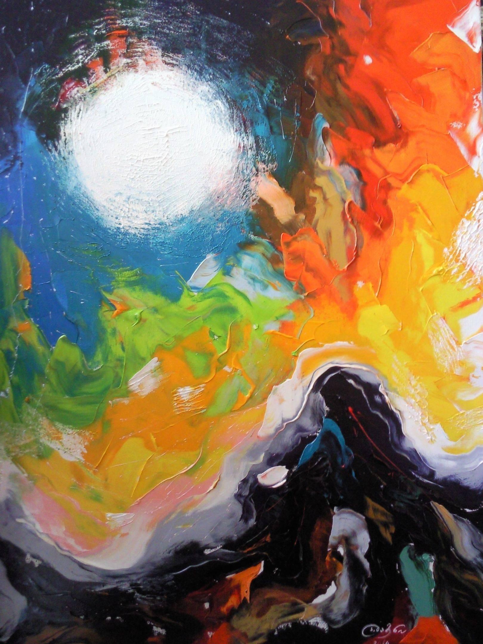«Летняя луна»                   холст, масло «Summer moon»                oil on canvas  80x60,  2014