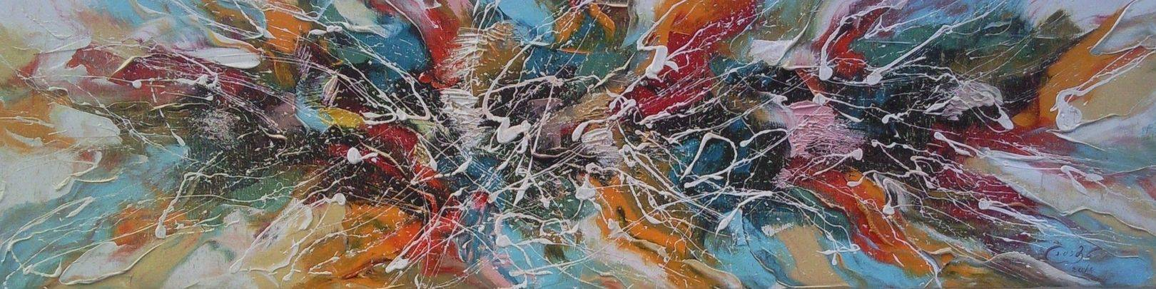 «Цветы»                 холст, масло «Flowers»               oil on canvas                                                    25x75,  2014