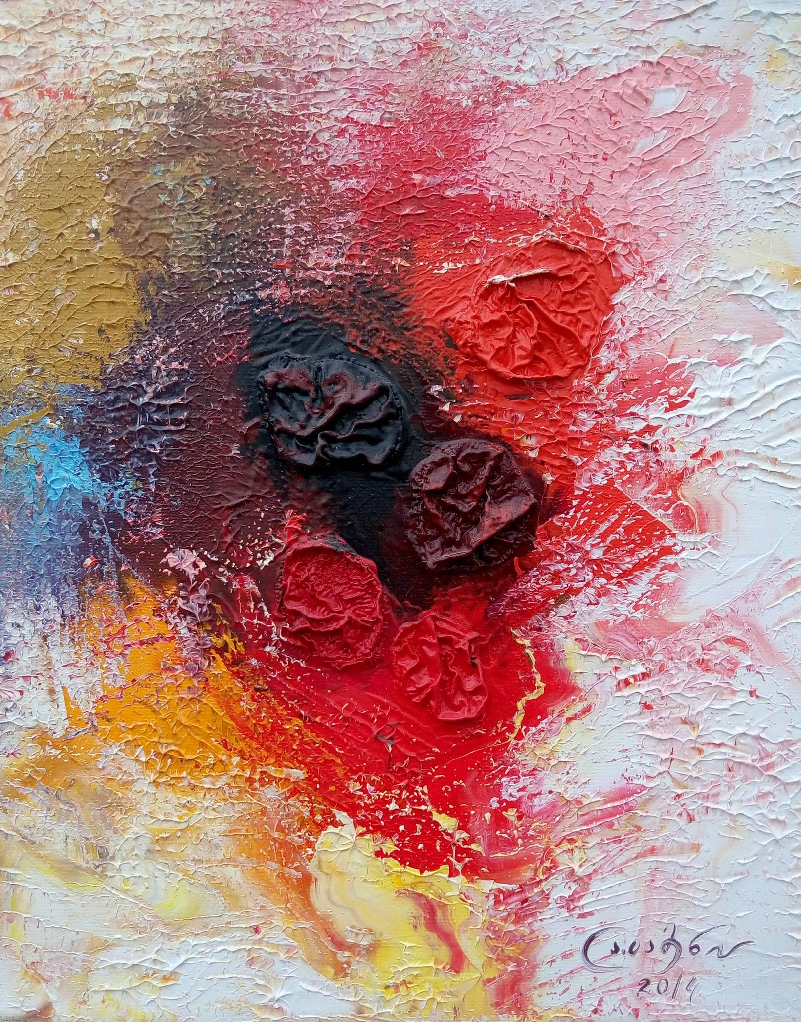 «Весенние зонтики»     холст, масло «Spring umbrellas»        oil on canvas                                                 30x24,   2014