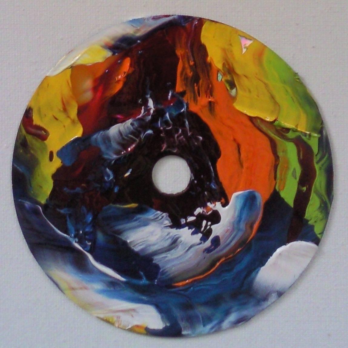 «Музыкальная вариация»     CD диск, масло «Musical variation»                  CD, oil                                                   d 12,  2014