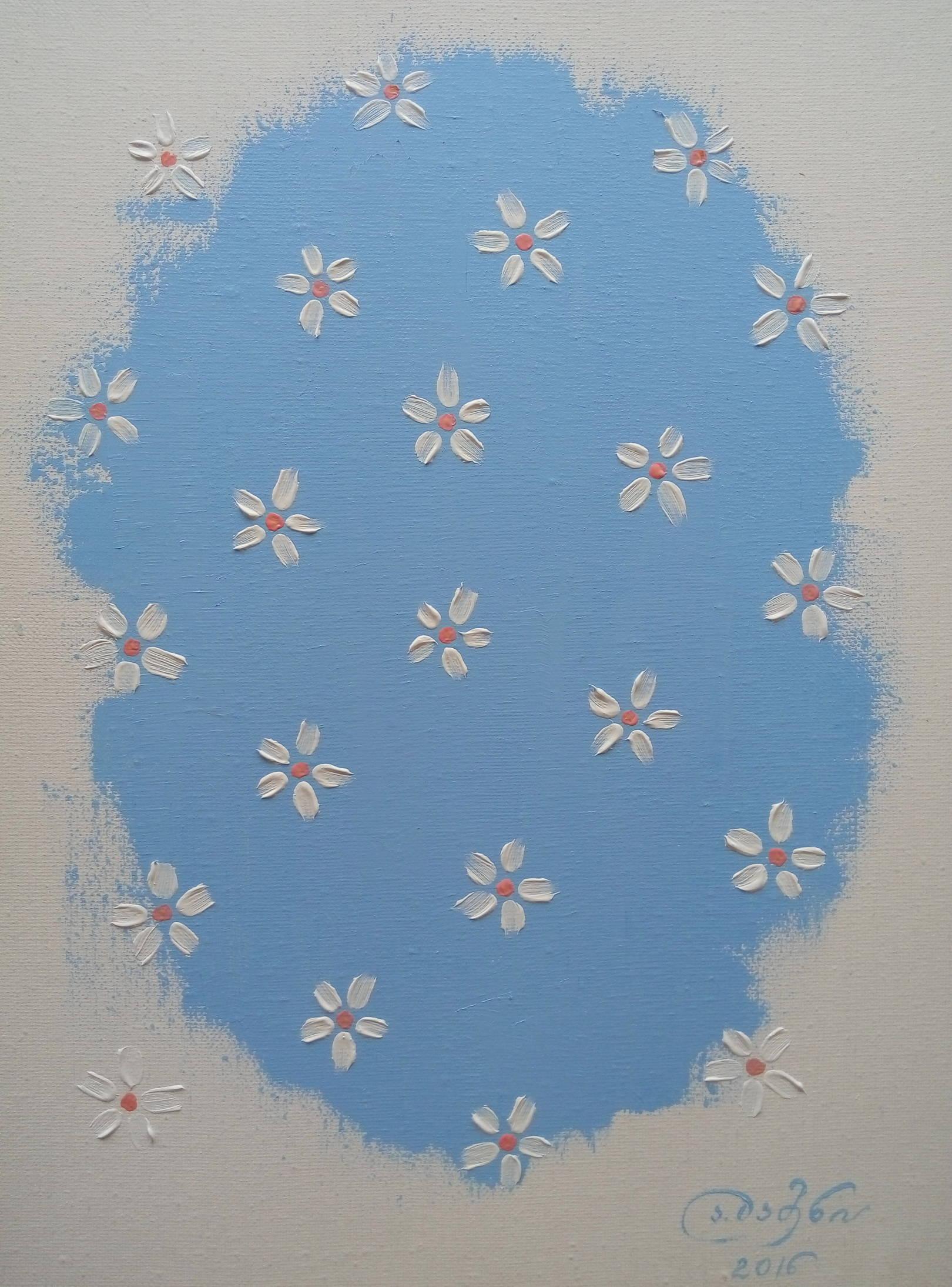 «Цветы»              холст, масло «Flowers»            oil on canvas                                                   40x30,  2016