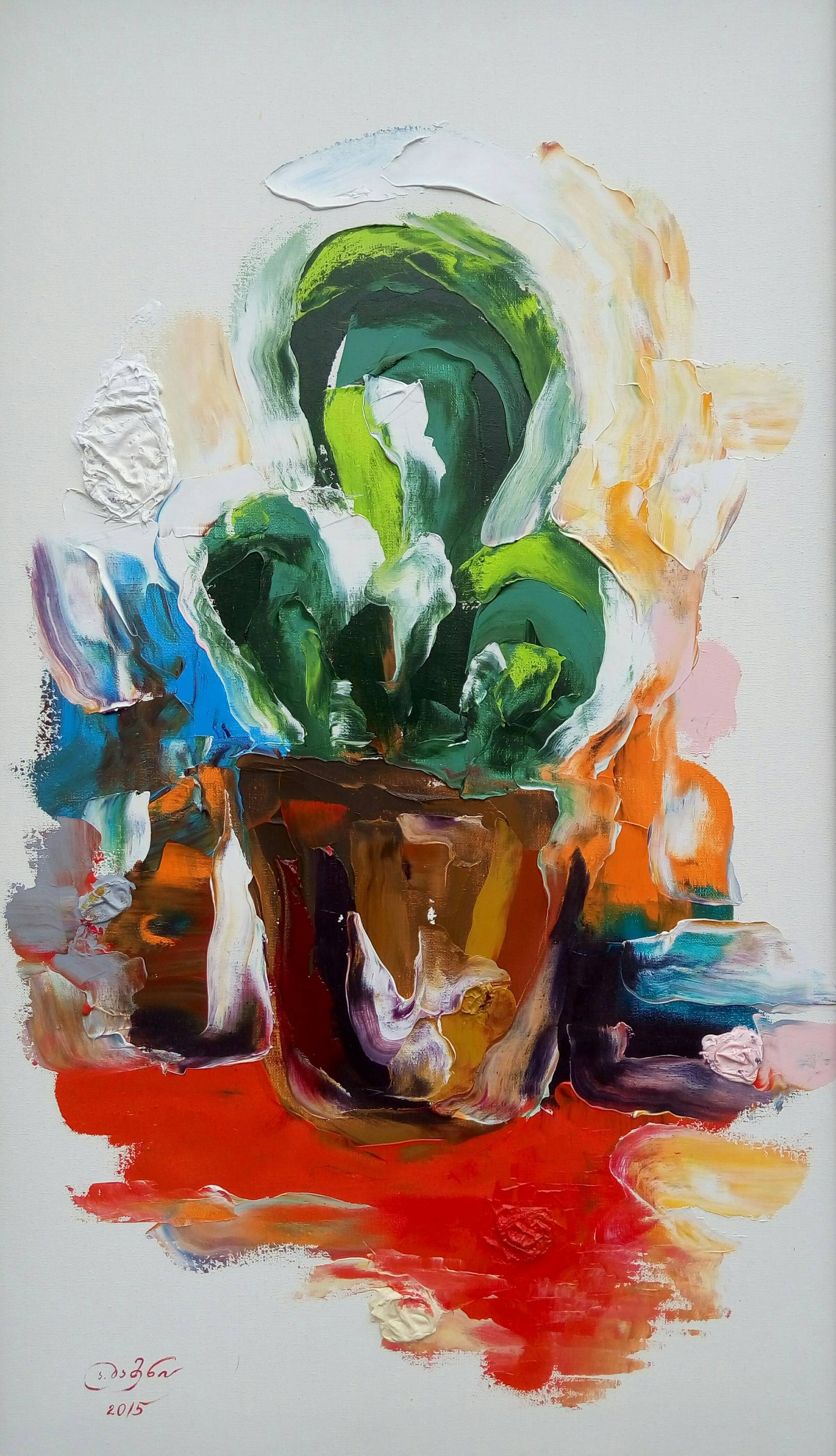 «Кактус»      холст, масло «Cactus»      oil on canvas    95x55, 2015