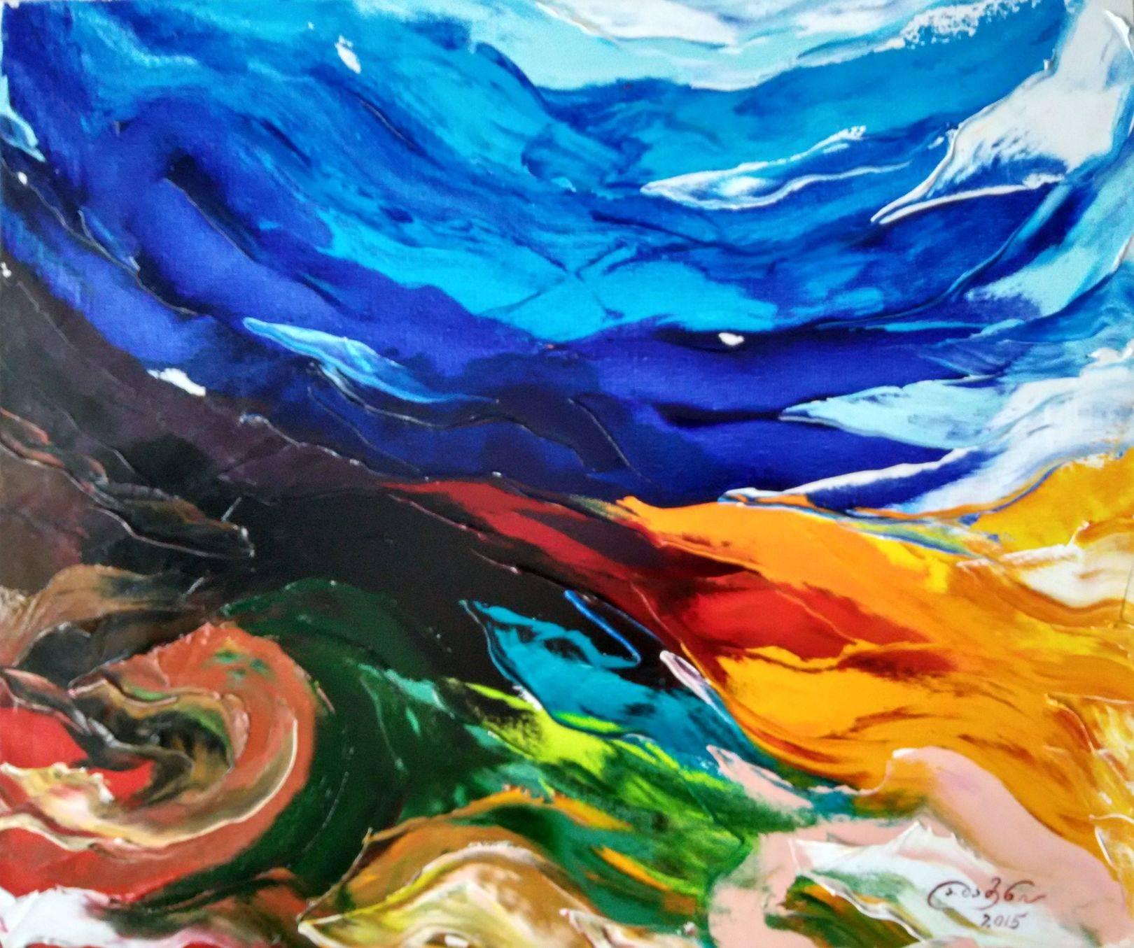 «Ещё не рассвело»    холст, масло «Not yet dawn»           oil on canvas  50x60, 2015
