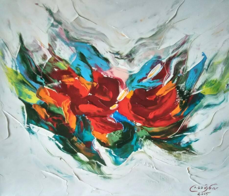 «Цветы»             холст, масло «Flowers»           oil on canvas                                                    50x60,  2015