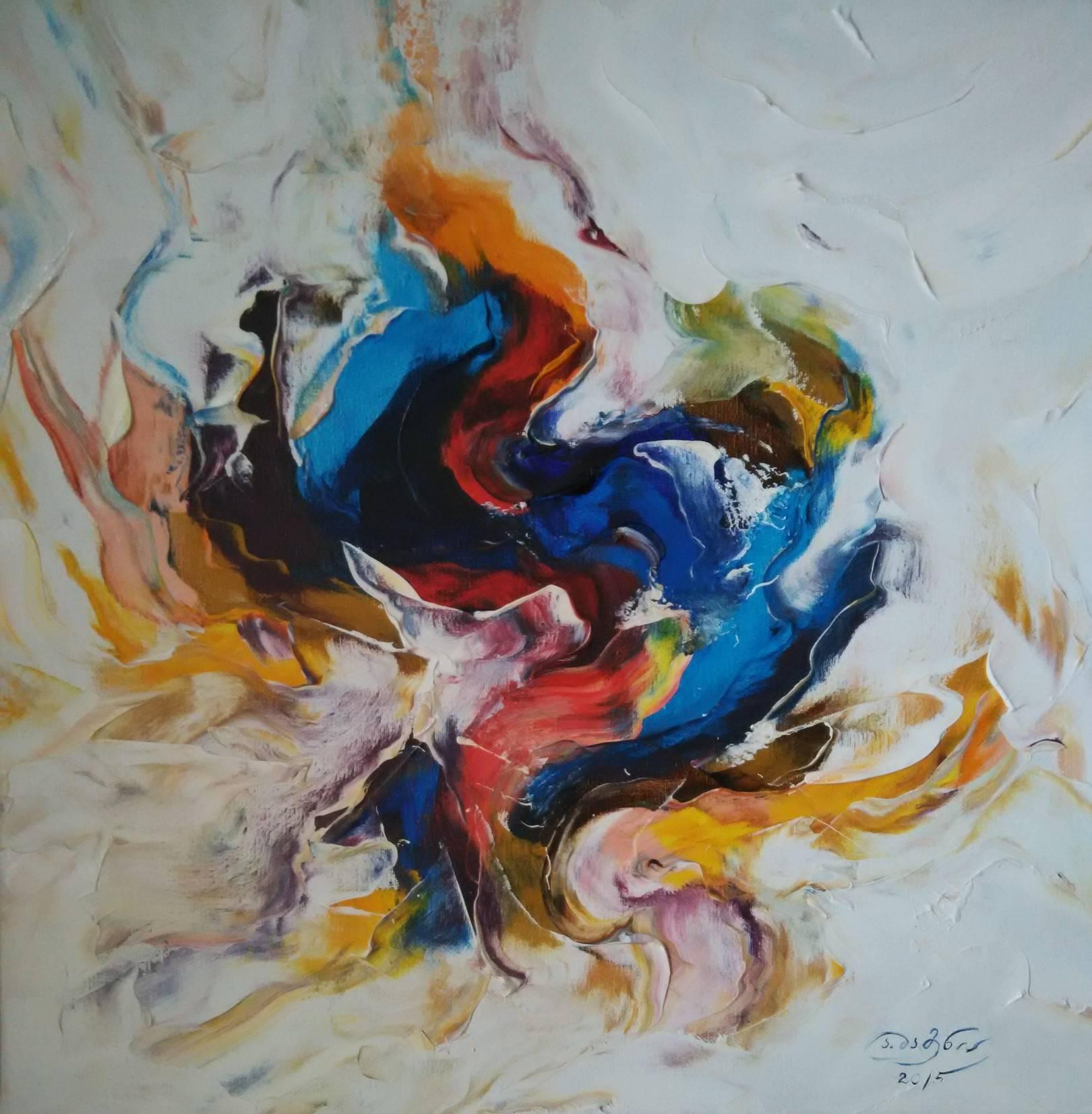 «Синяя птица»                      холст, масло «Blue bird»                             oil on canvas                                                   50x50,  2015