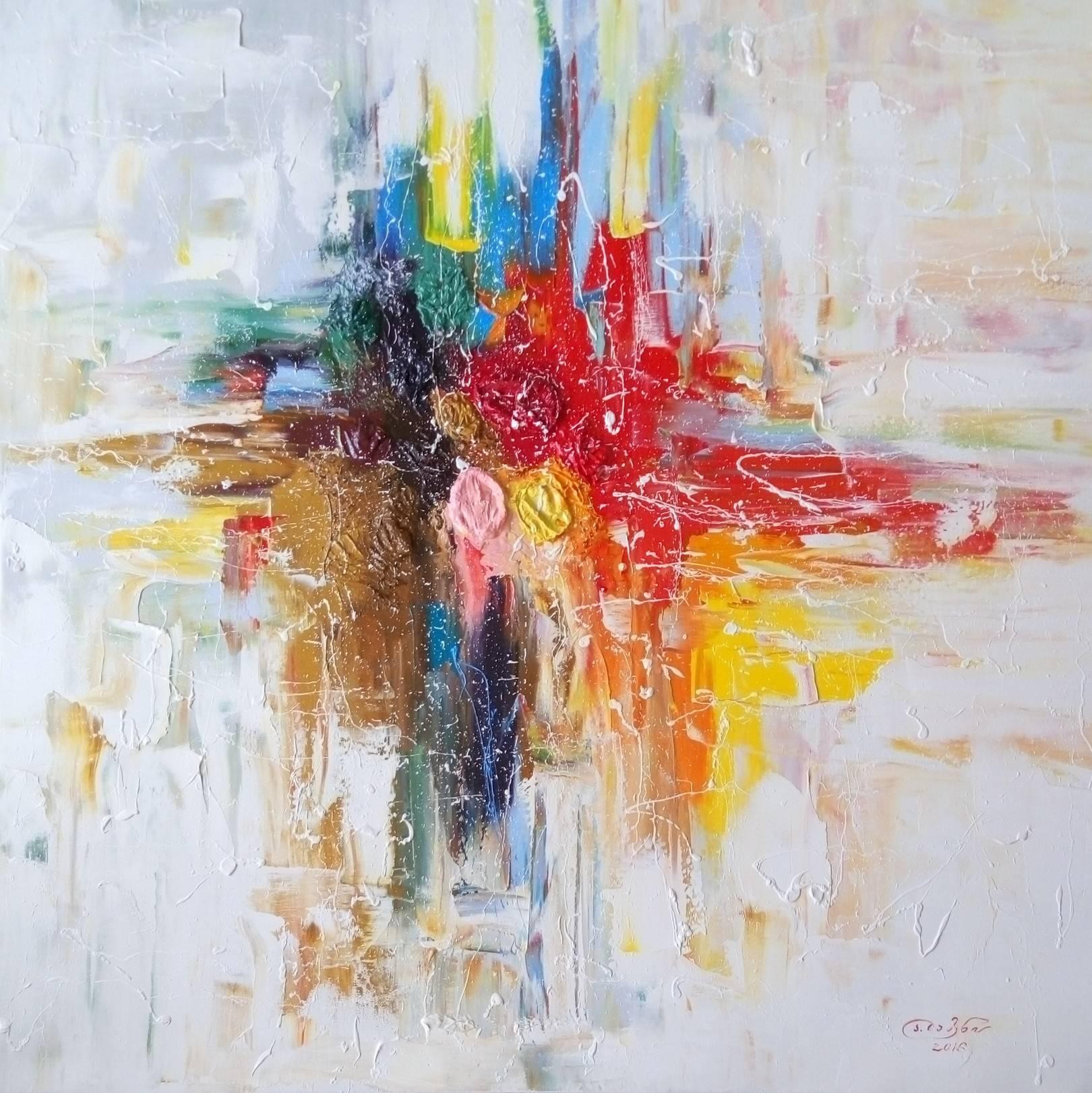 «Перекрёсток»         холст, масло «Crossroads»            oil on canvas                                                80x80,  2016