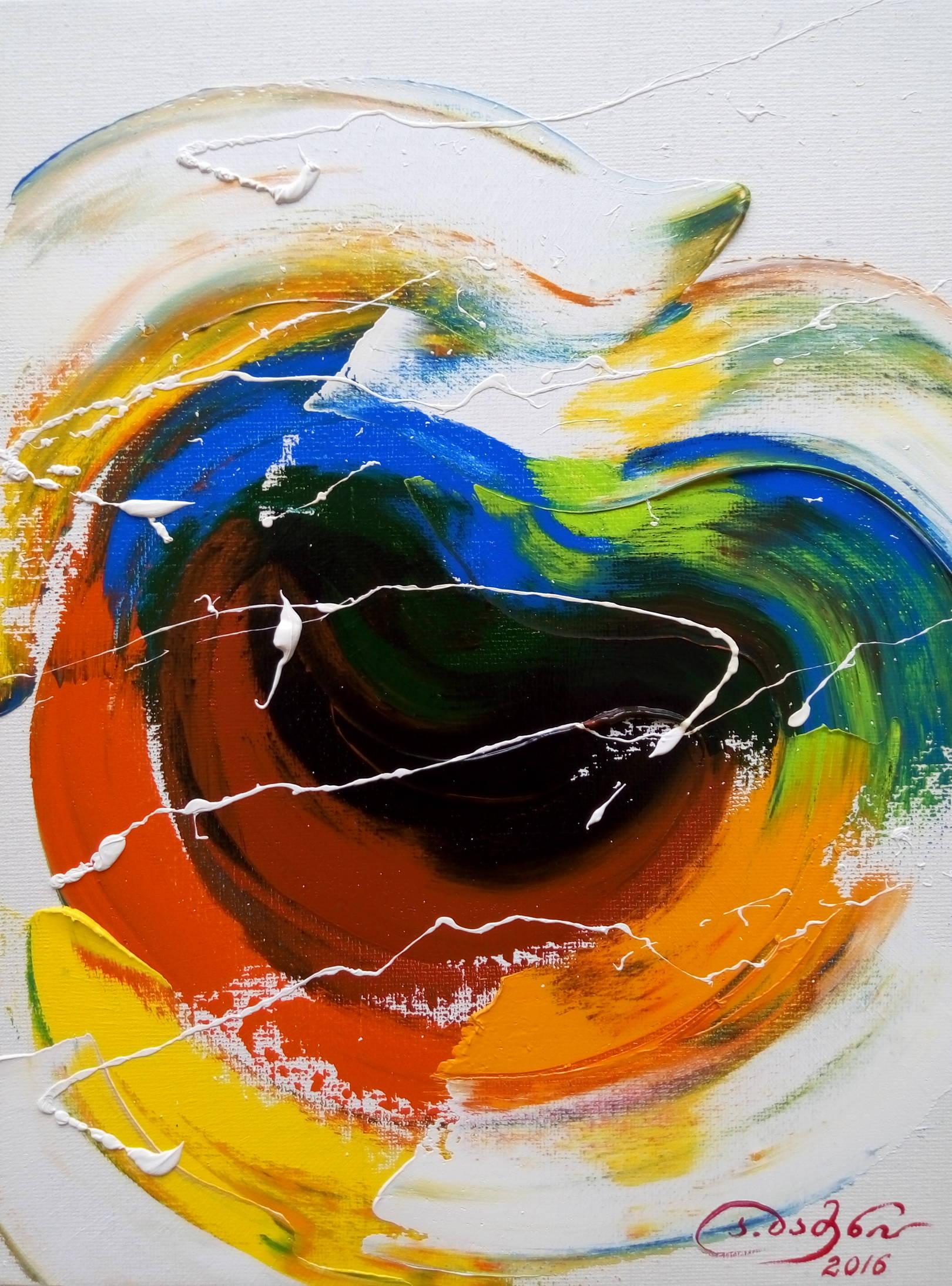 «Заглянуть в подсознание»     холст, масло «Look into the subconscious»    oil on canvas                                                    30x24,  2016