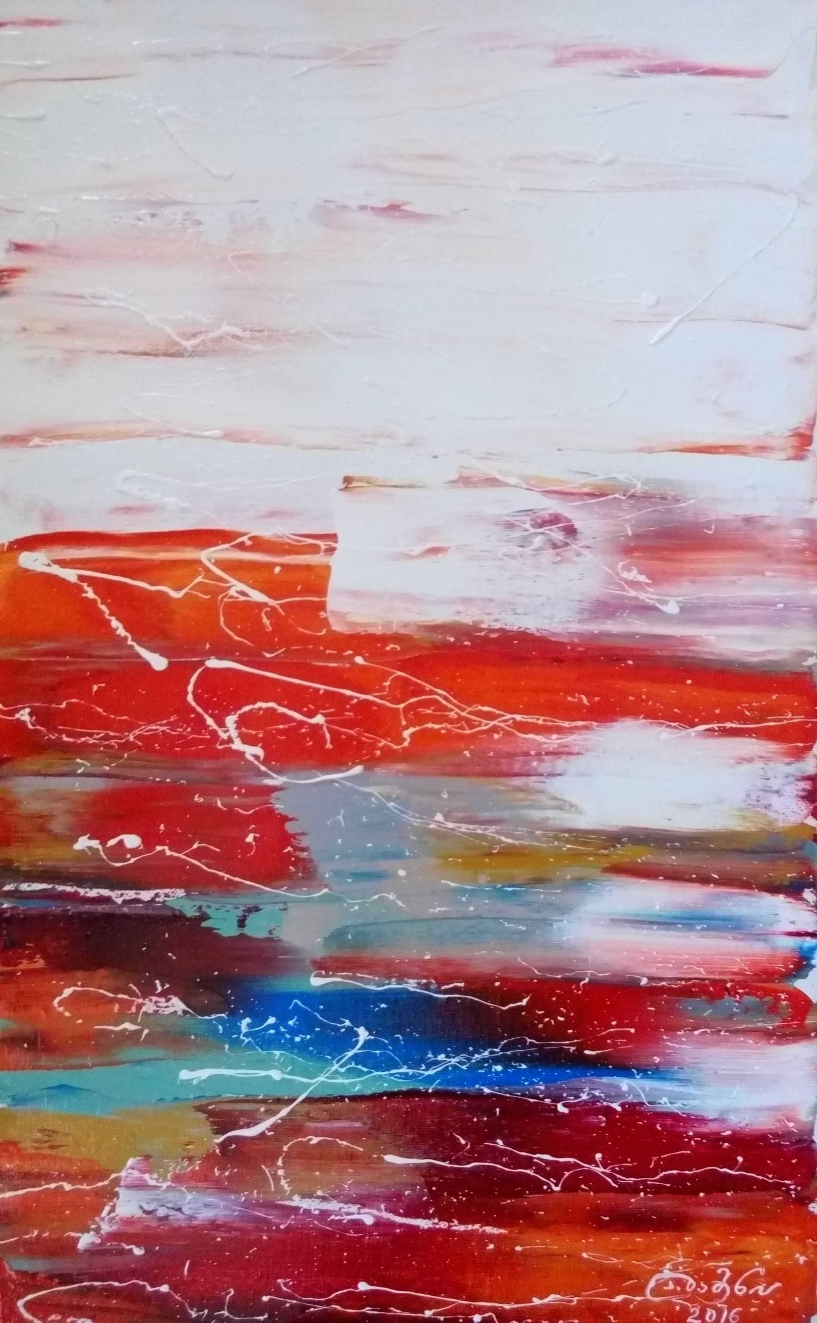 «Пейзаж»          холст, масло «Landscape»     oil on canvas                                                60x35,  2016