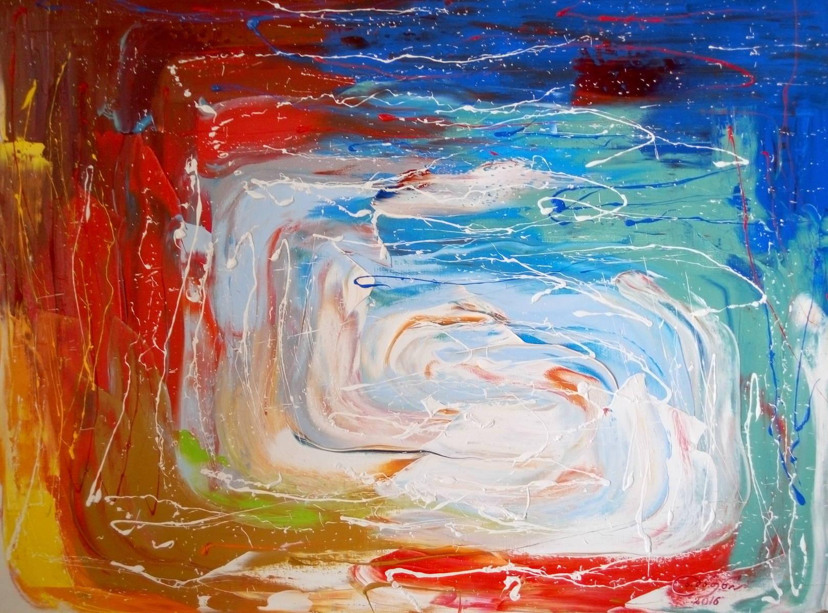 «Вход в лабиринт»                             холст, масло «Entrance to the maze»                       oil on canvas                                                50x60,  2016