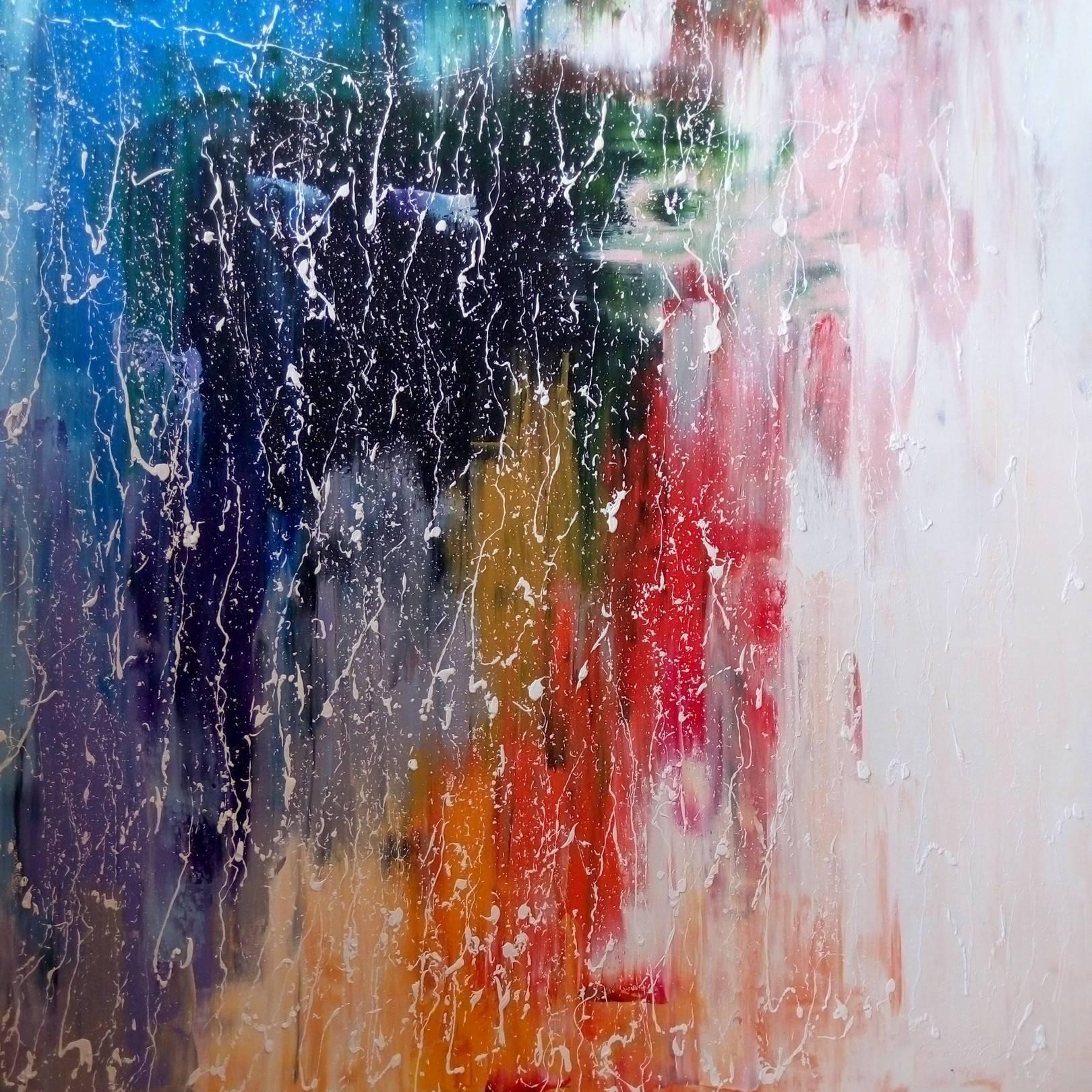 «Дождь за окном»                    холст, масло «Rain outside the window»       oil on canvas                                                      80x80,  2016
