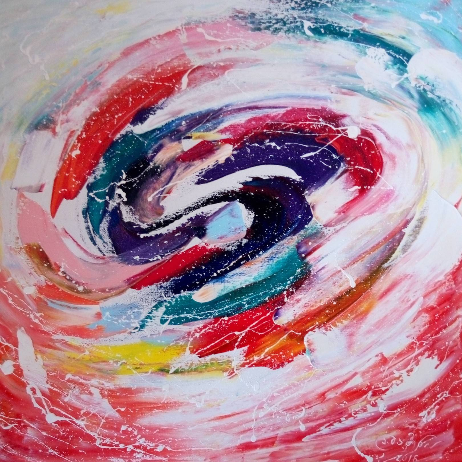 «Танец ветра»      холст, масло «Dancing wind»     oil on canvas                                                      50x50,  2016