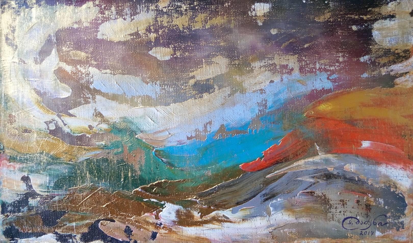 «Пейзаж»        холст, масло «Landscape»   oil on canvas 29x46, 2017
