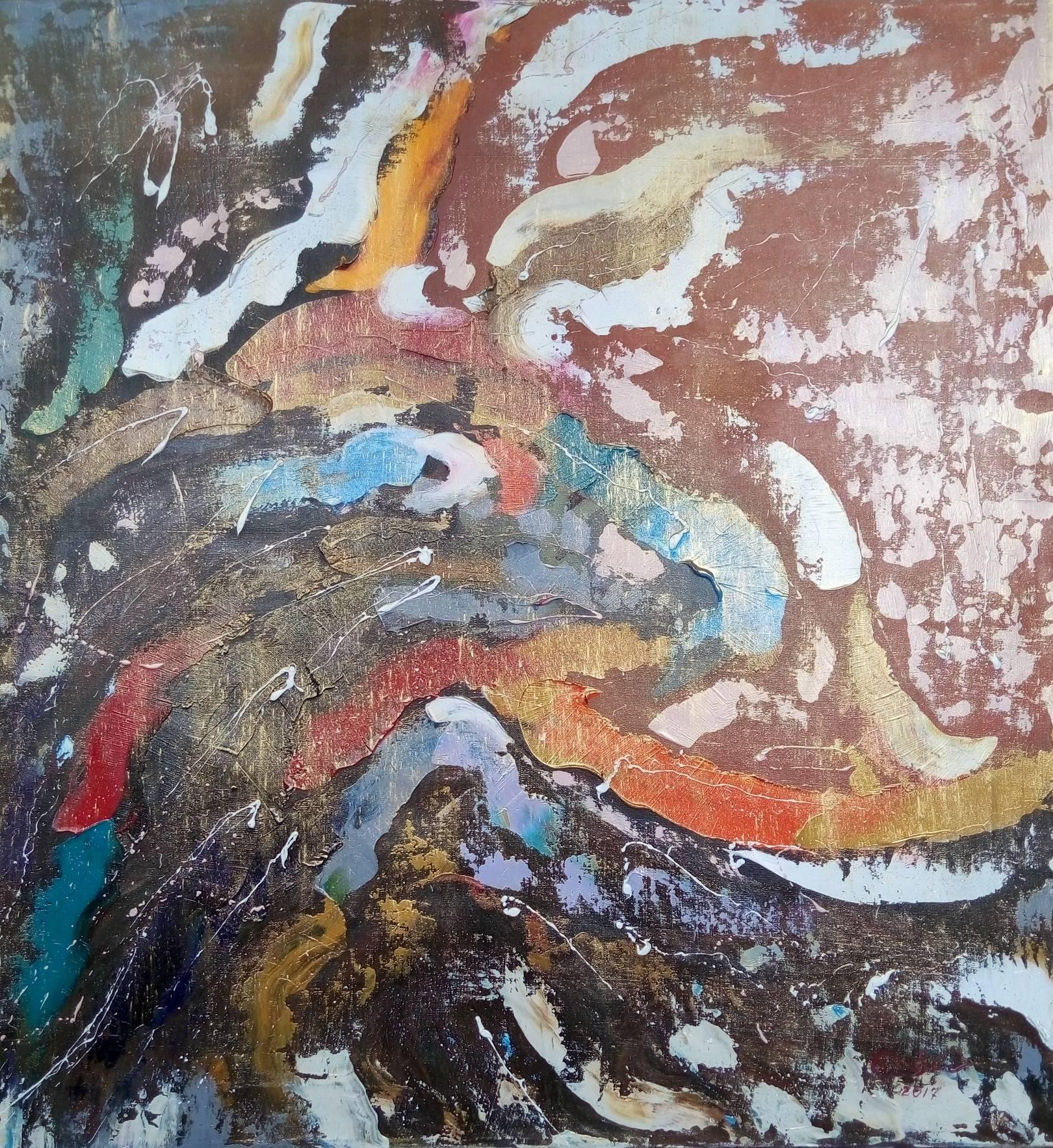 «Пейзаж»        холст, масло «Landscape»   oil on canvas 80x75, 2017