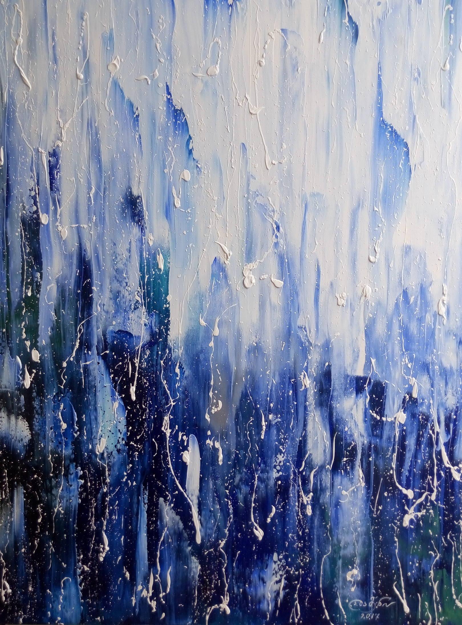 «Баллада о дожде»    холст, масло «Ballad of rain»            oil on canvas 80x60, 2017