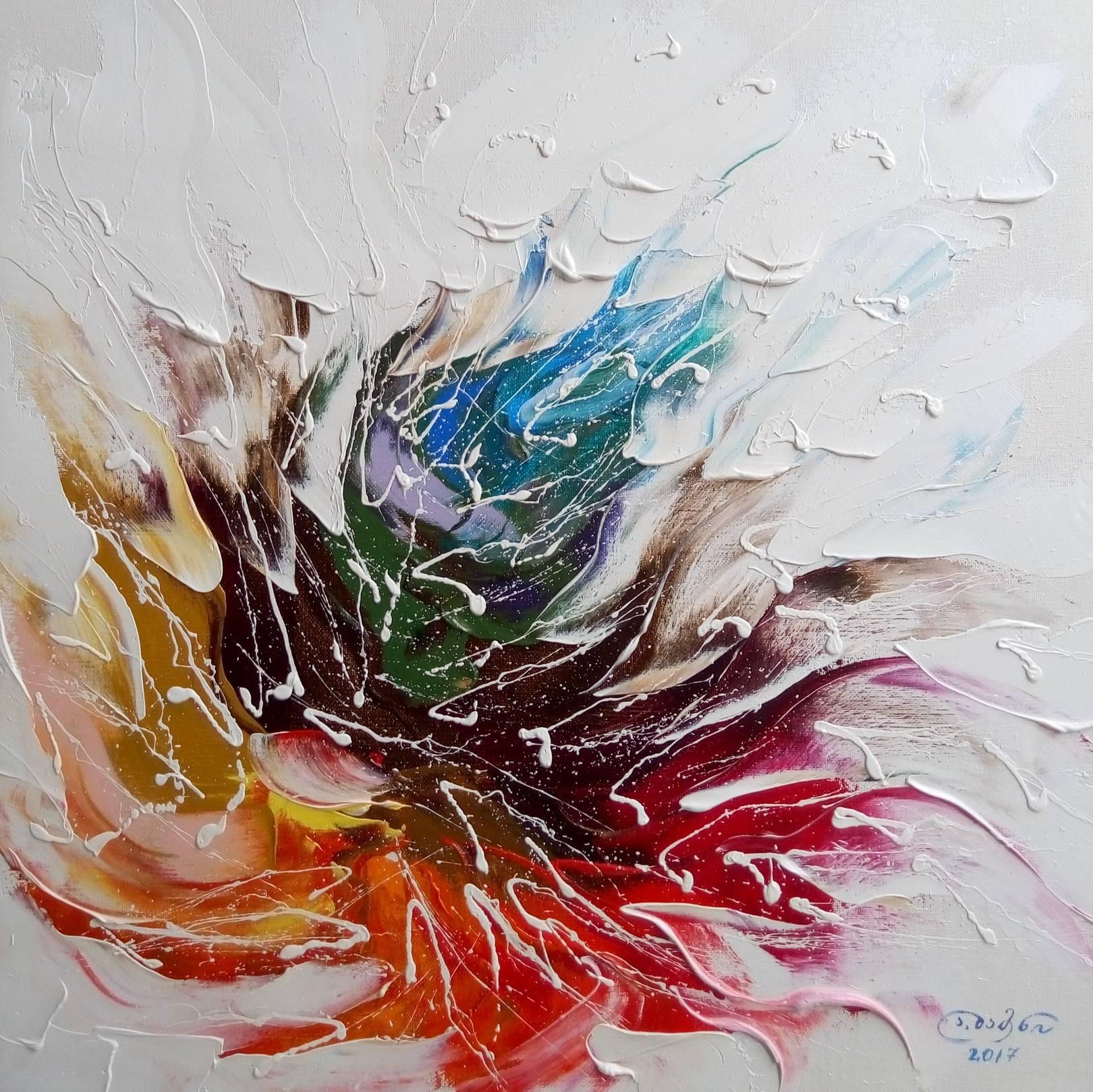 «Волшебный цветок»   холст, масло «Magic flower»              oil on canvas  50x50, 2017