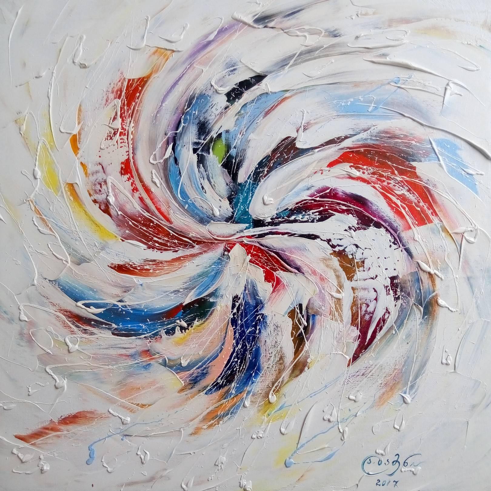 «Пробуждение голубого солнца»   холст, масло «Awakening of the blue sun»            oil on canvas  50x50, 2017