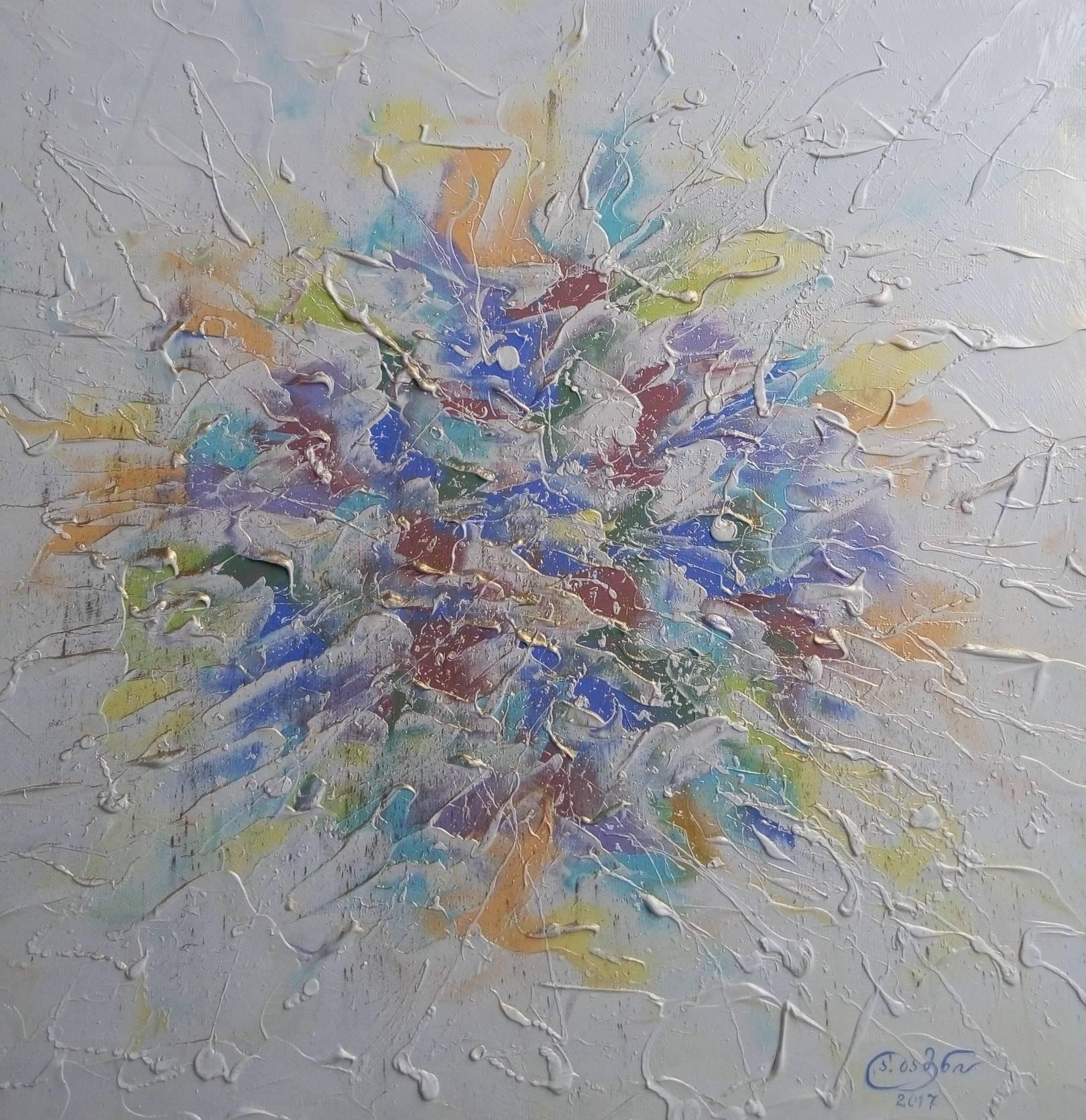 «Букет полевых цветов»    холст, масло «Bouquet of wild flowers»   oil on canvas  50x50, 2017