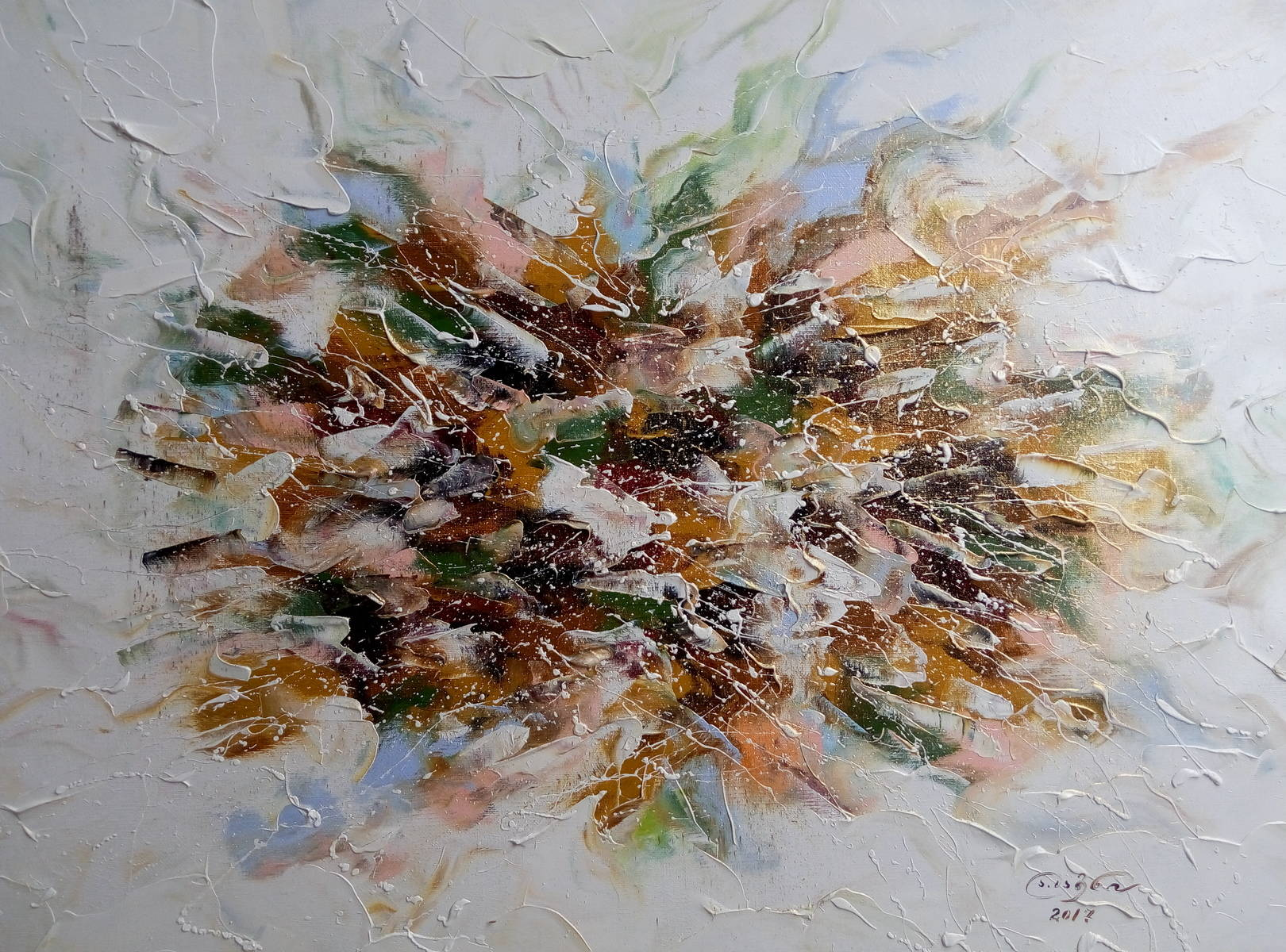 «Букет полевых цветов»   холст, масло «Bouquet of wild flowers»   oil on canvas  50x70, 2017