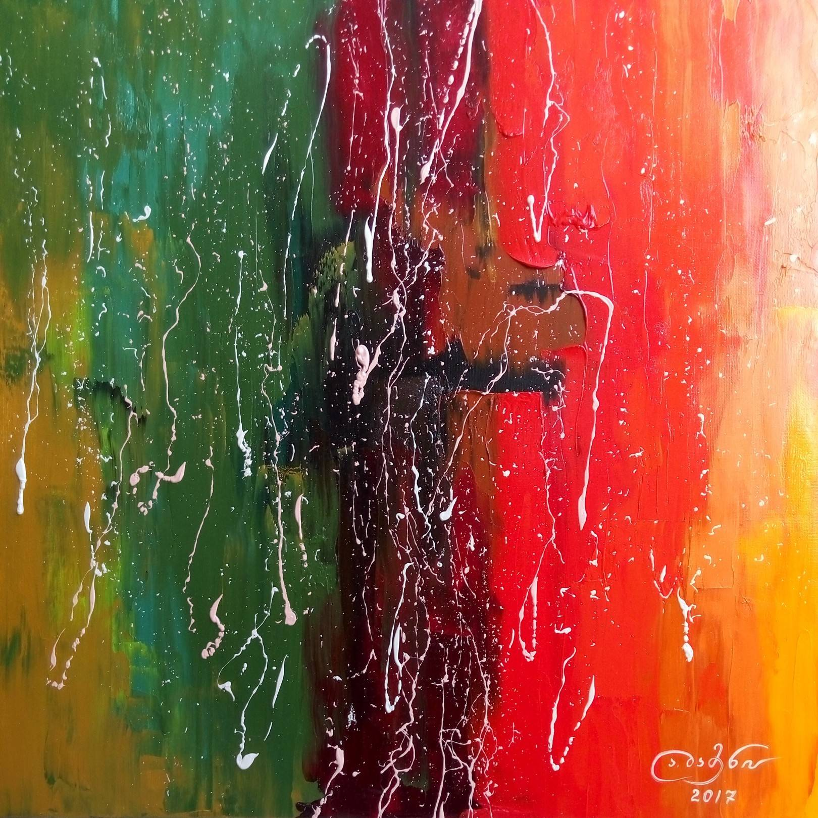 «Вечерняя печаль»  холст, масло «Evening sorrow»      oil on canvas  50x50, 2017