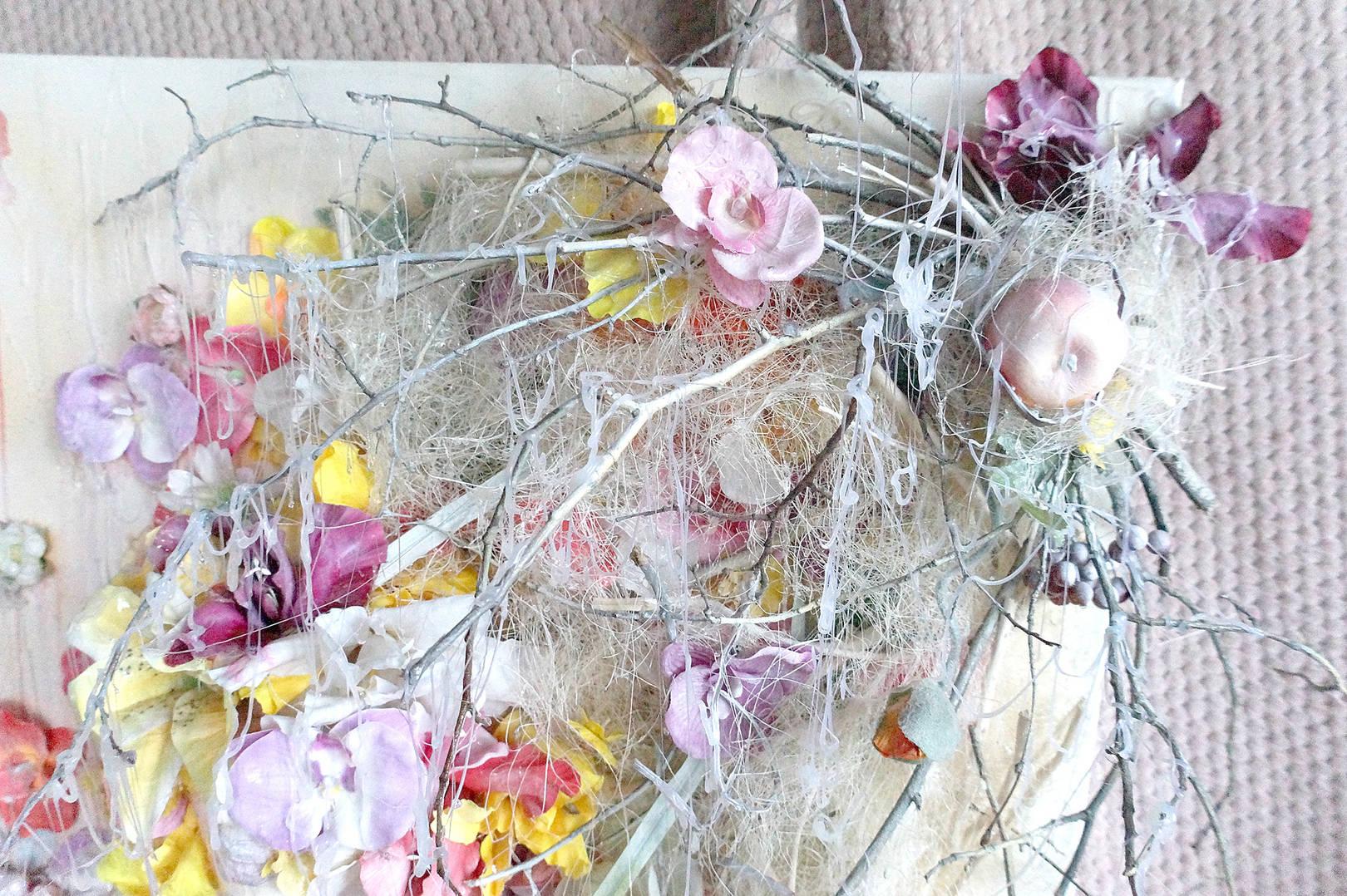 "Объемная картина ""Весна. Дух цветов"". 3D коллаж"