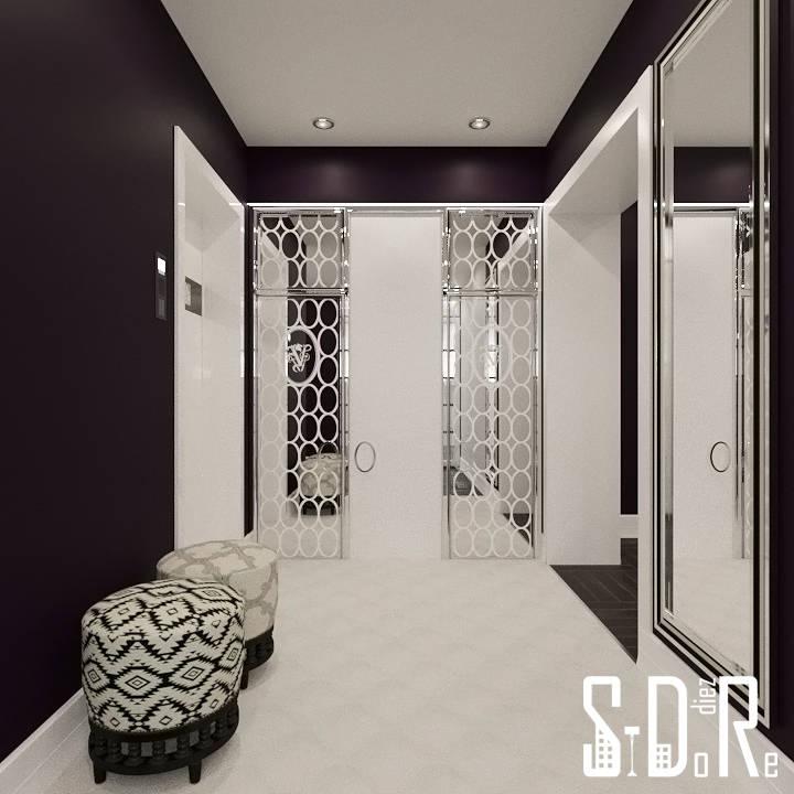 Интерьер цвета спелых слив от студии дизайна интерьера