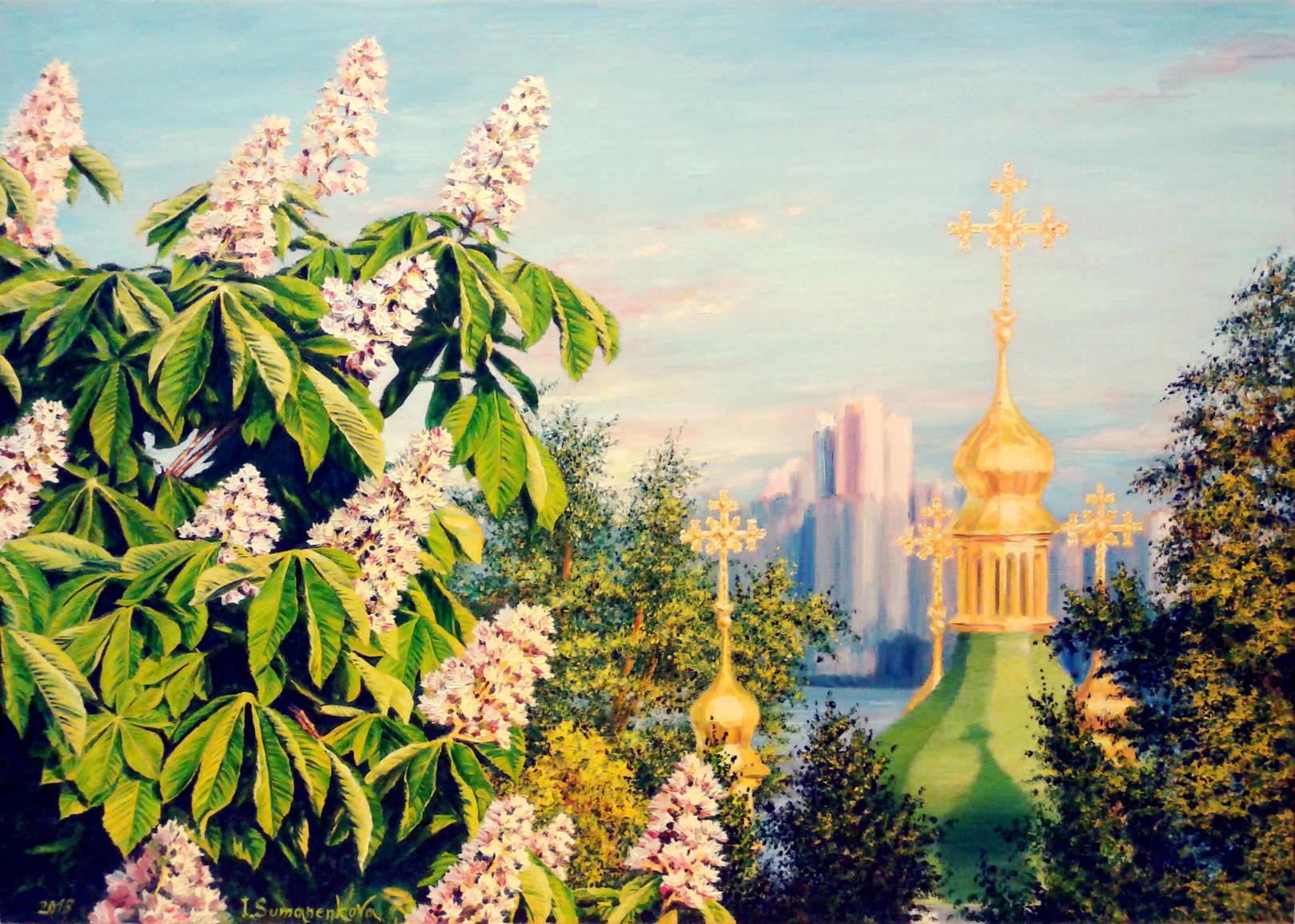 Мечта о Киеве / Dreaming about Кyiv 50 х 70 см, холст, масло, 2015 г