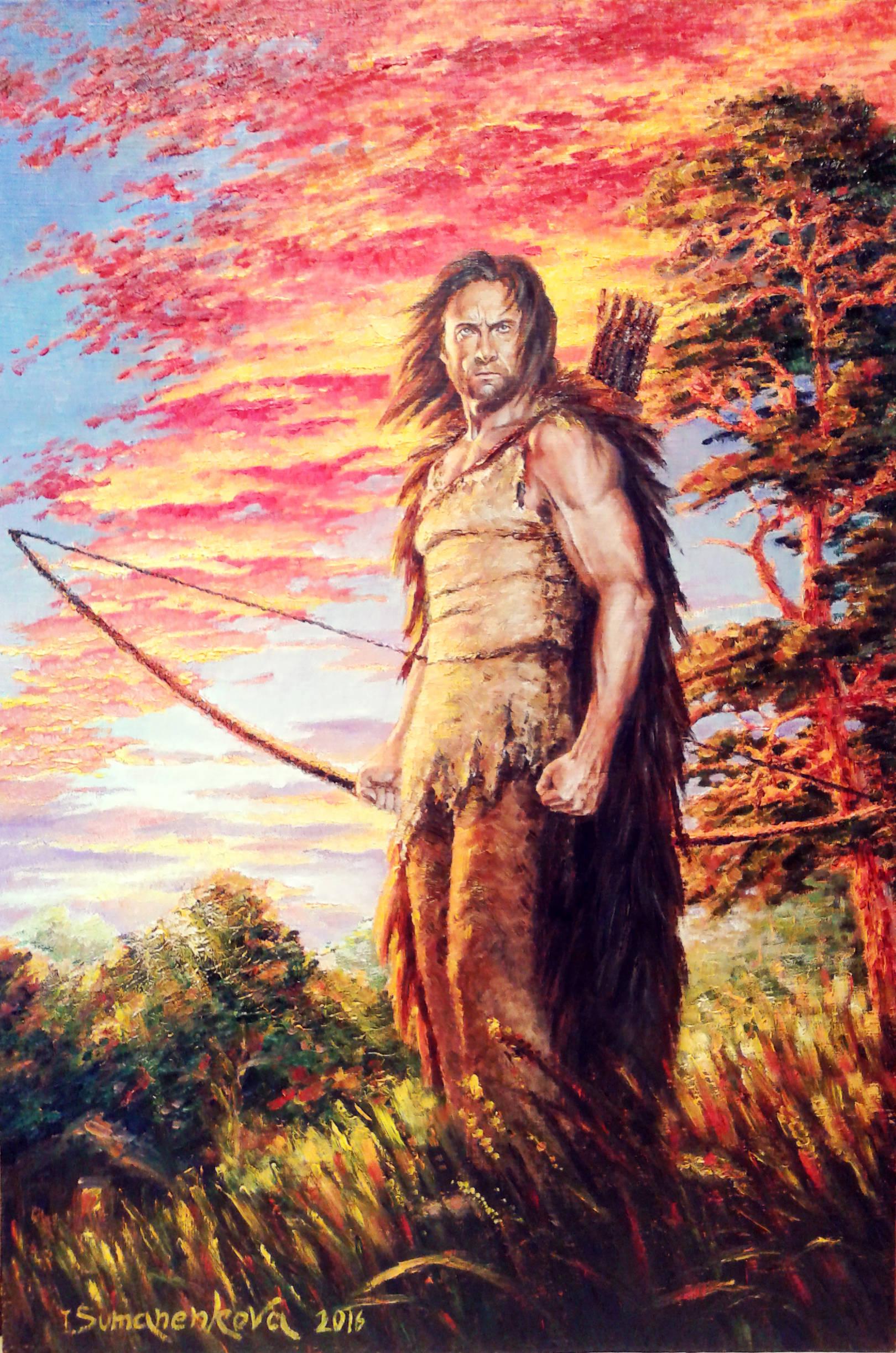 Кормилец. Охотник. Воин / A breadwinner. A hunter. A warrior 60 х 40 см, холст, масло, 2016 г