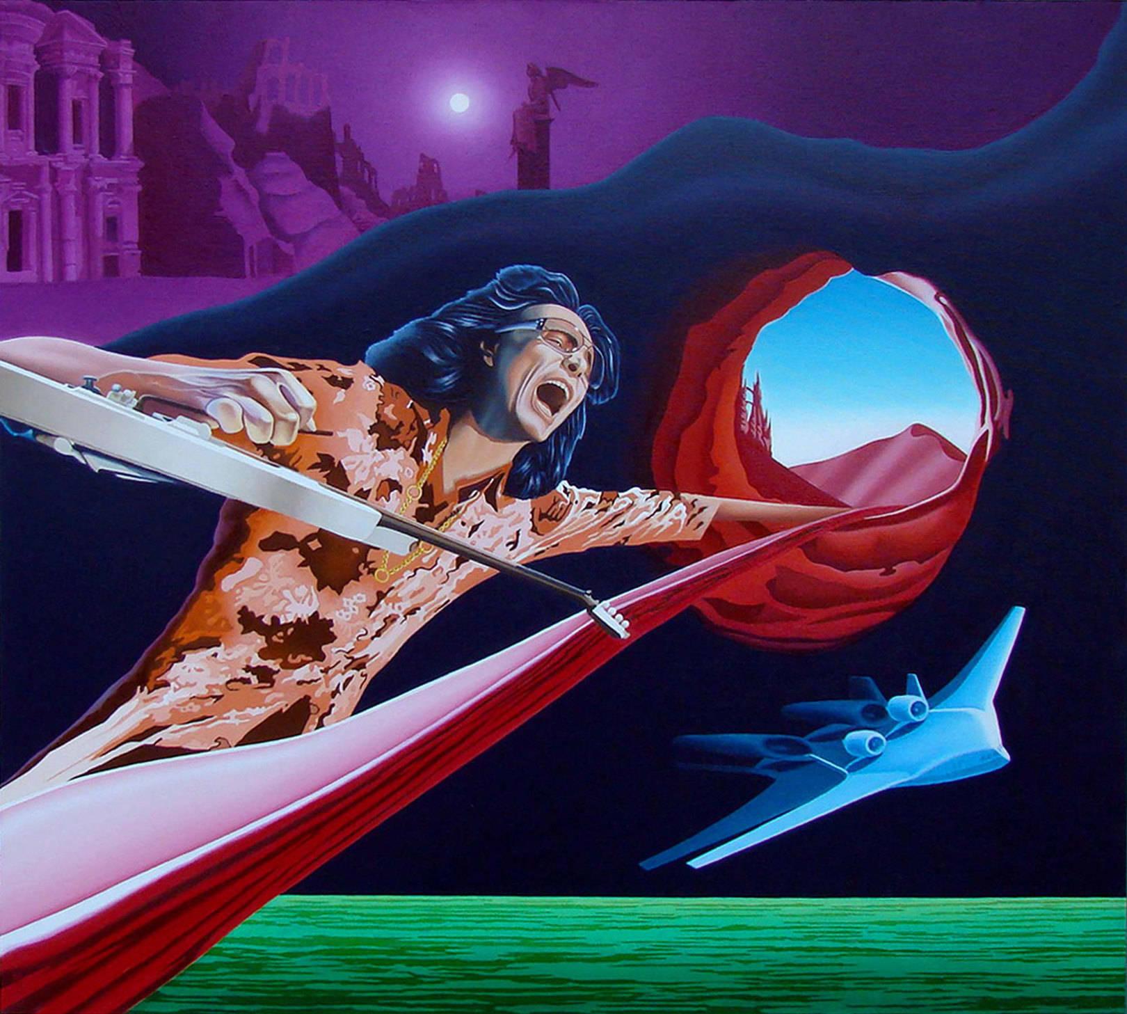 Steve Vai - Gravity Storm. 90 см x 100 см,холст, масло.