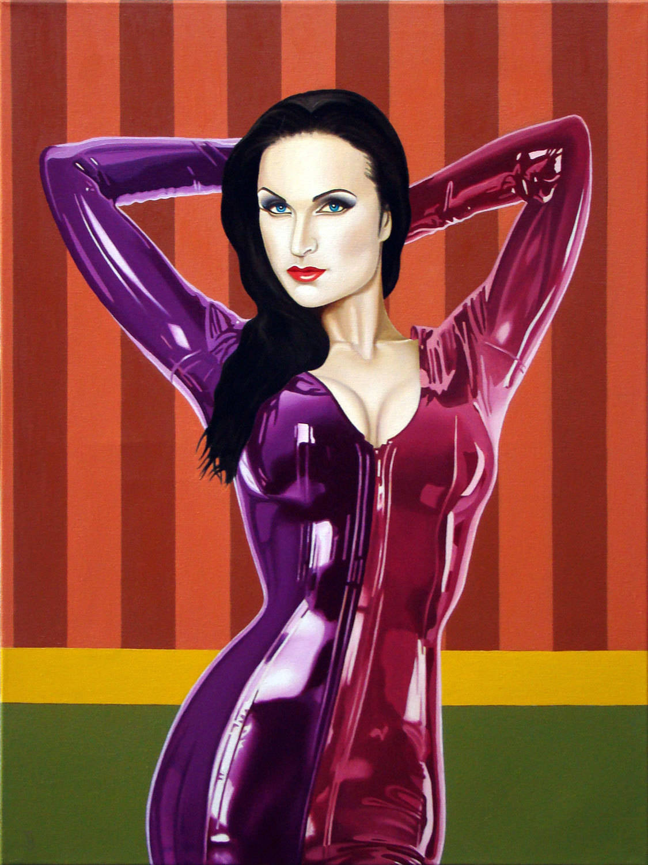 Susanna Andersen фотомодель 80 см x 60 см холст ,масло.