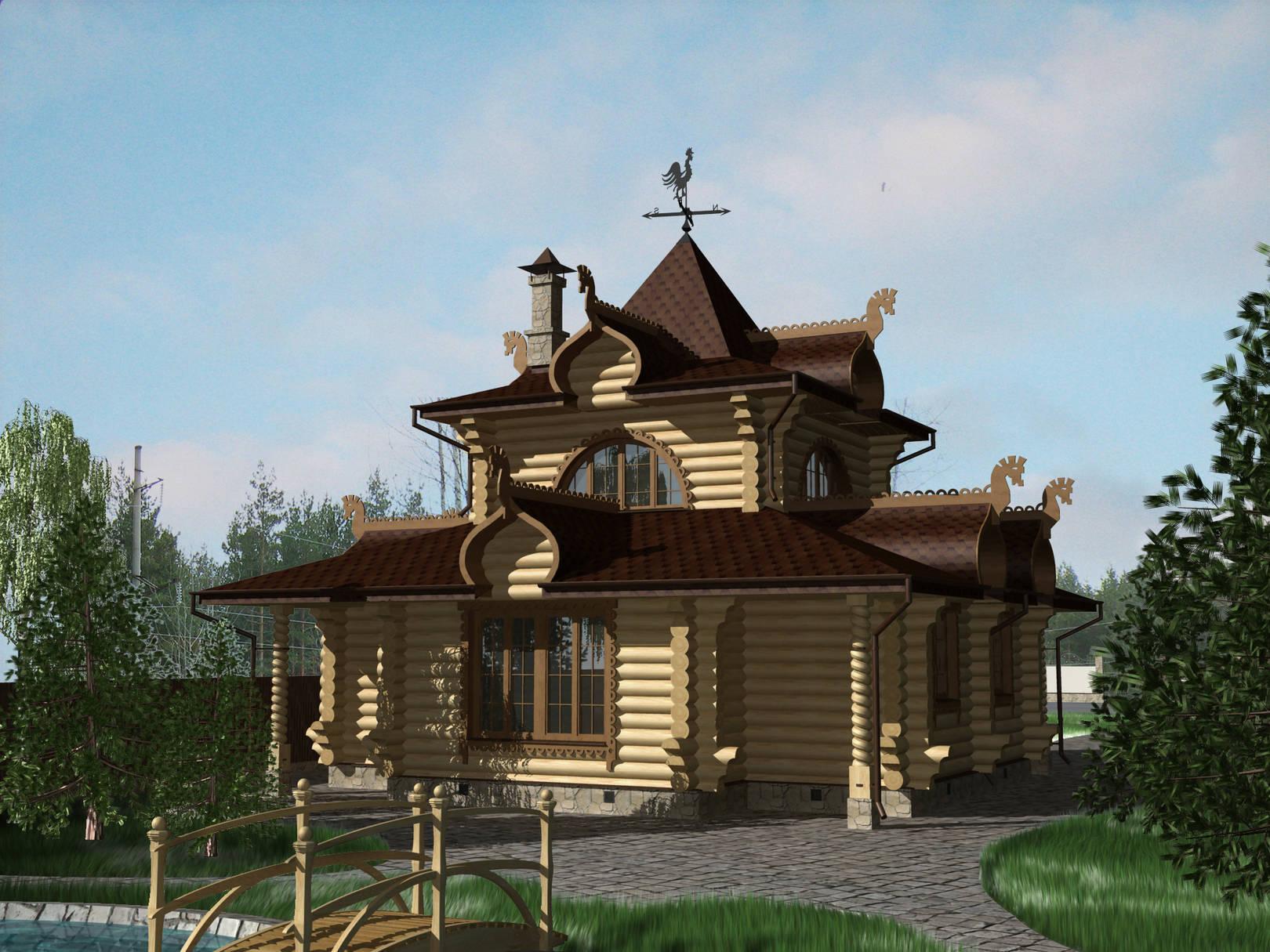 Охотничий домик в сказочной тематике