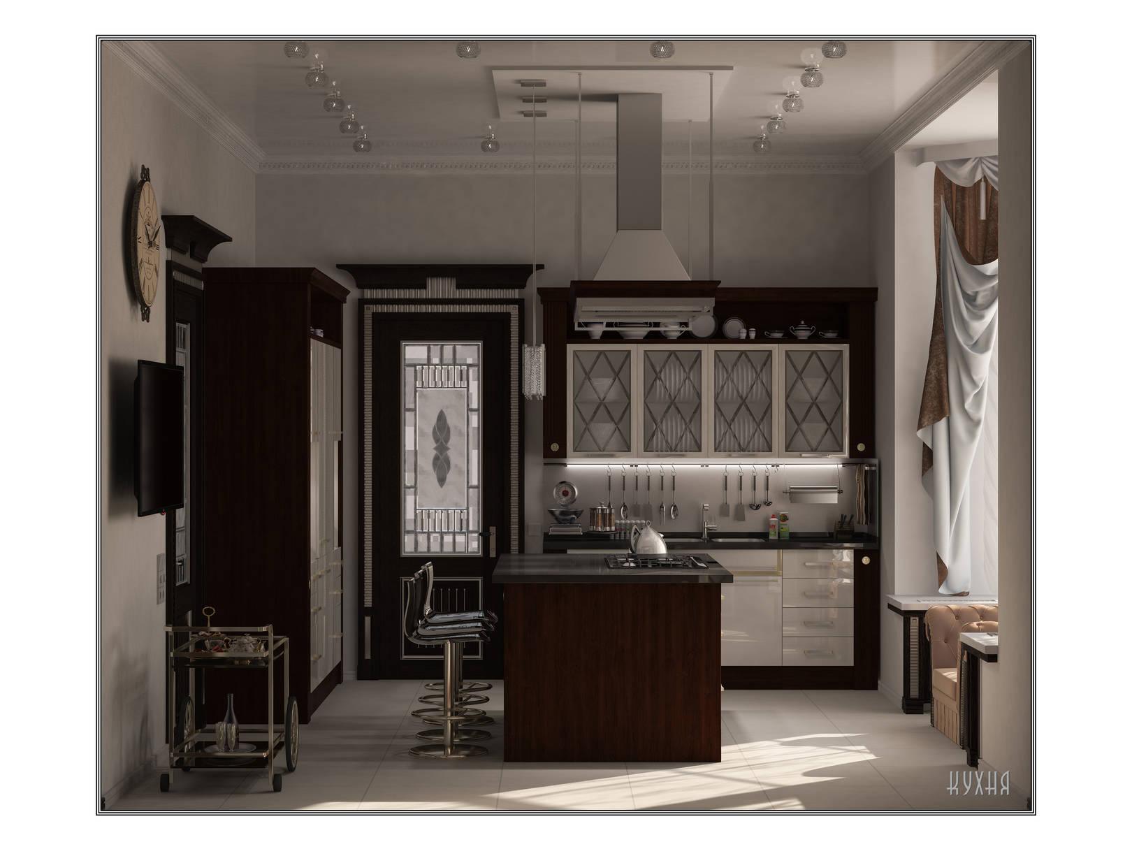 Кухня с мебелью Scavolini
