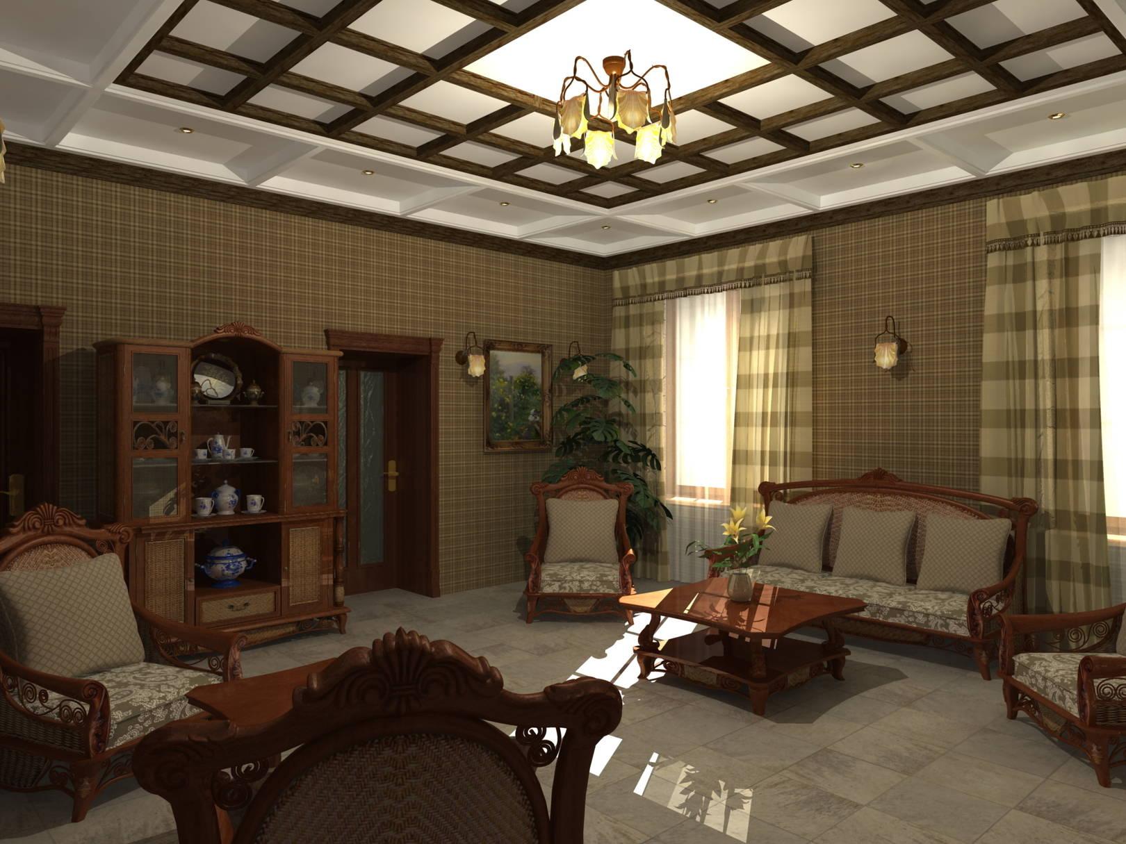 Гостиная_кантри