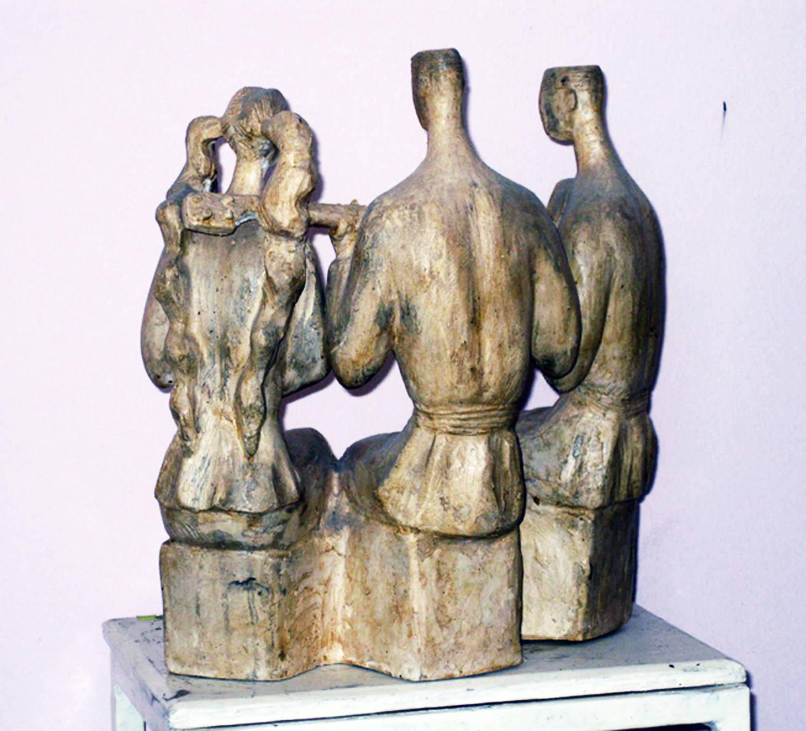 Trio 2004 year bronza H 30x10x24cm5500 $