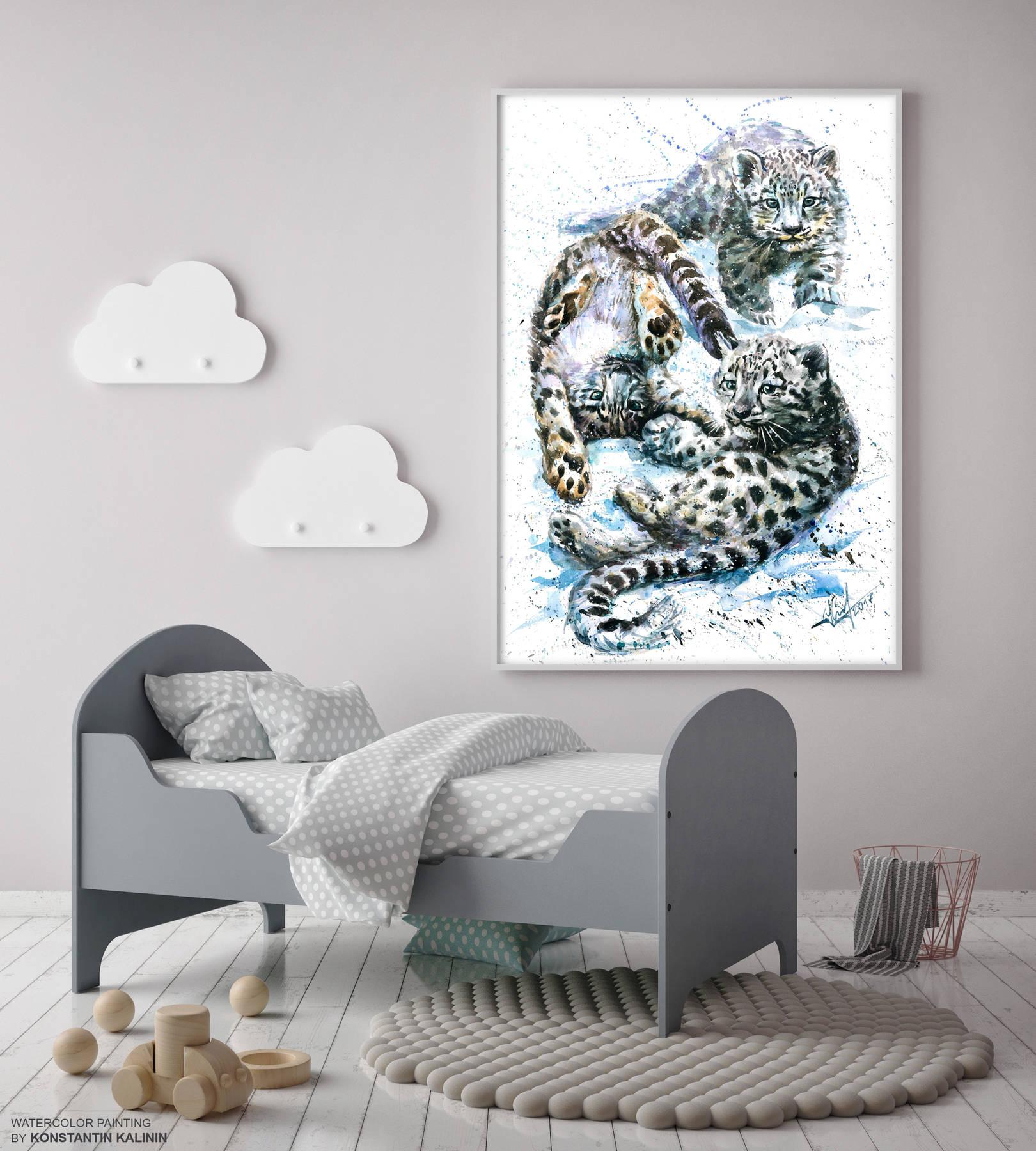 Снежные барсики - Snow leopards