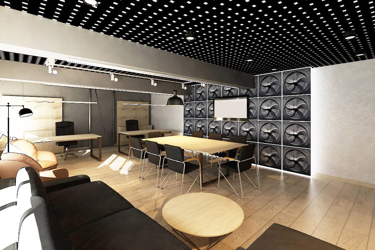 3D визуализация офиса.
