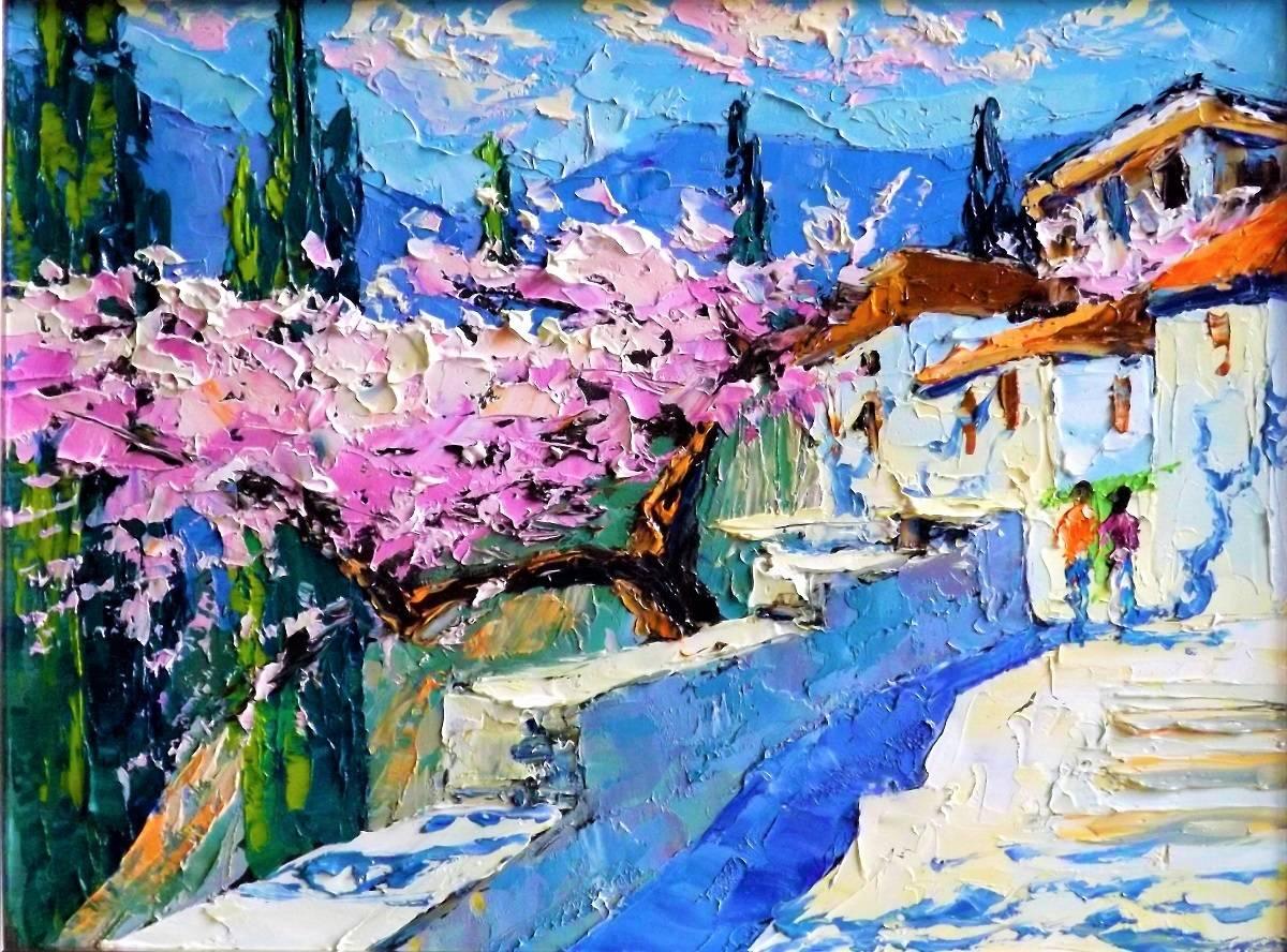 Весна в Гурзуфе.к.м.24х37.