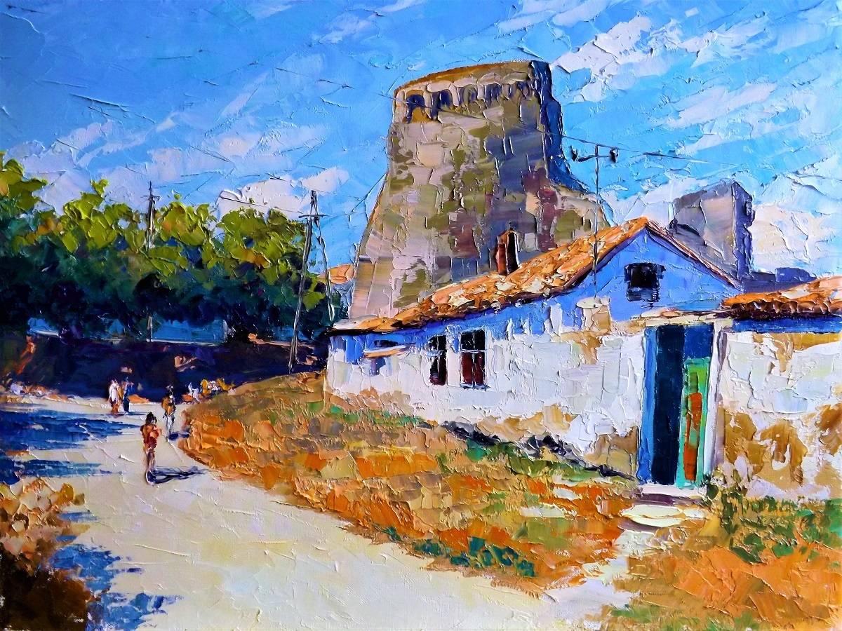 Старая улочка Феодосии.х.м.44х60.