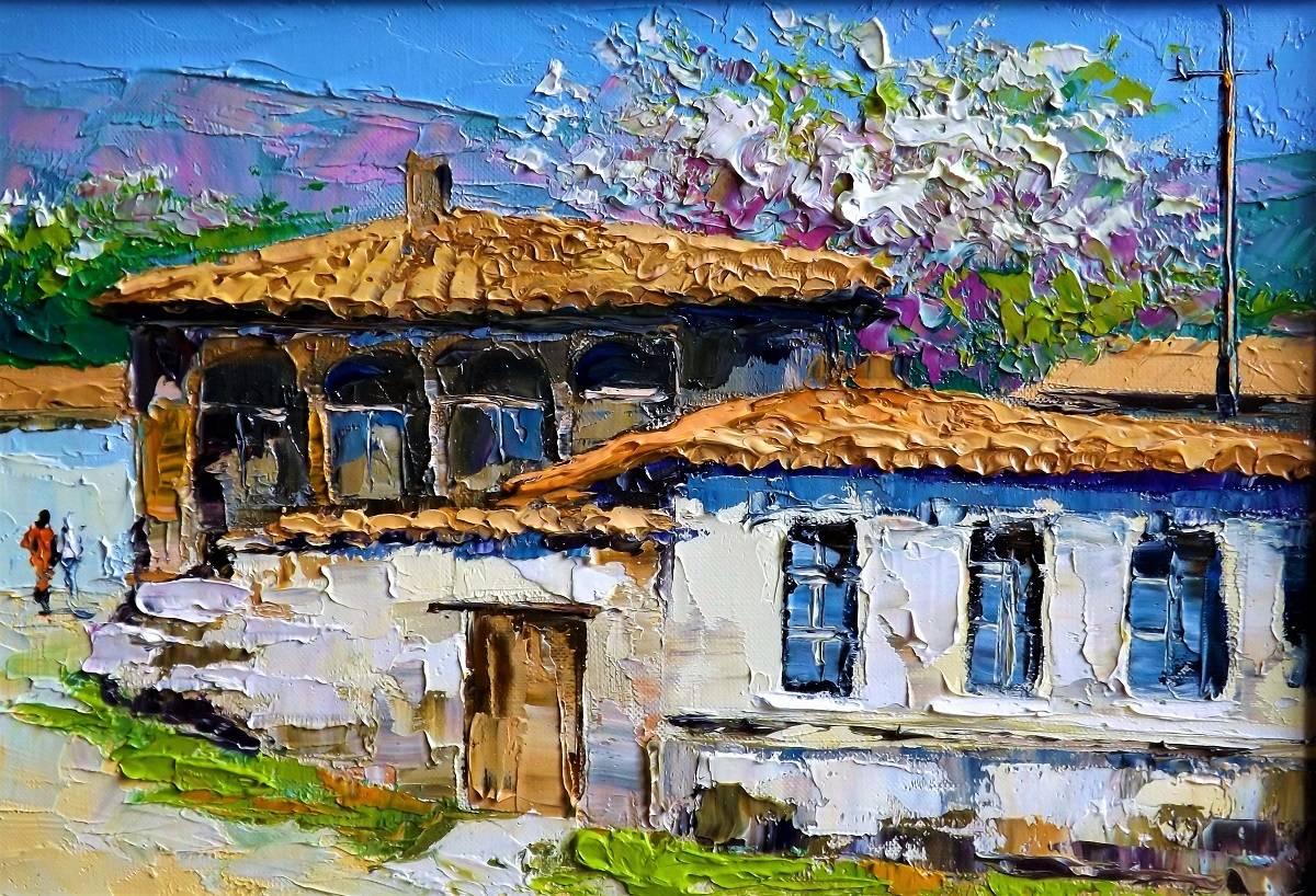 Дом на Караимской.х.м.27х39.