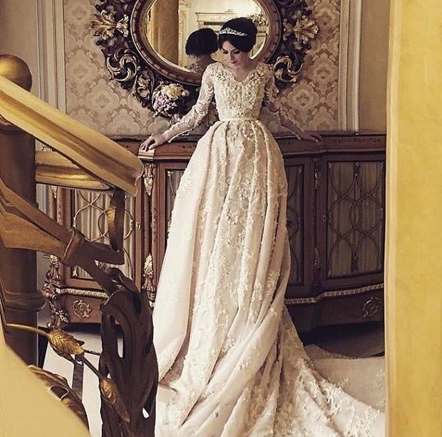 Robe de mariée de style européen tchétchène