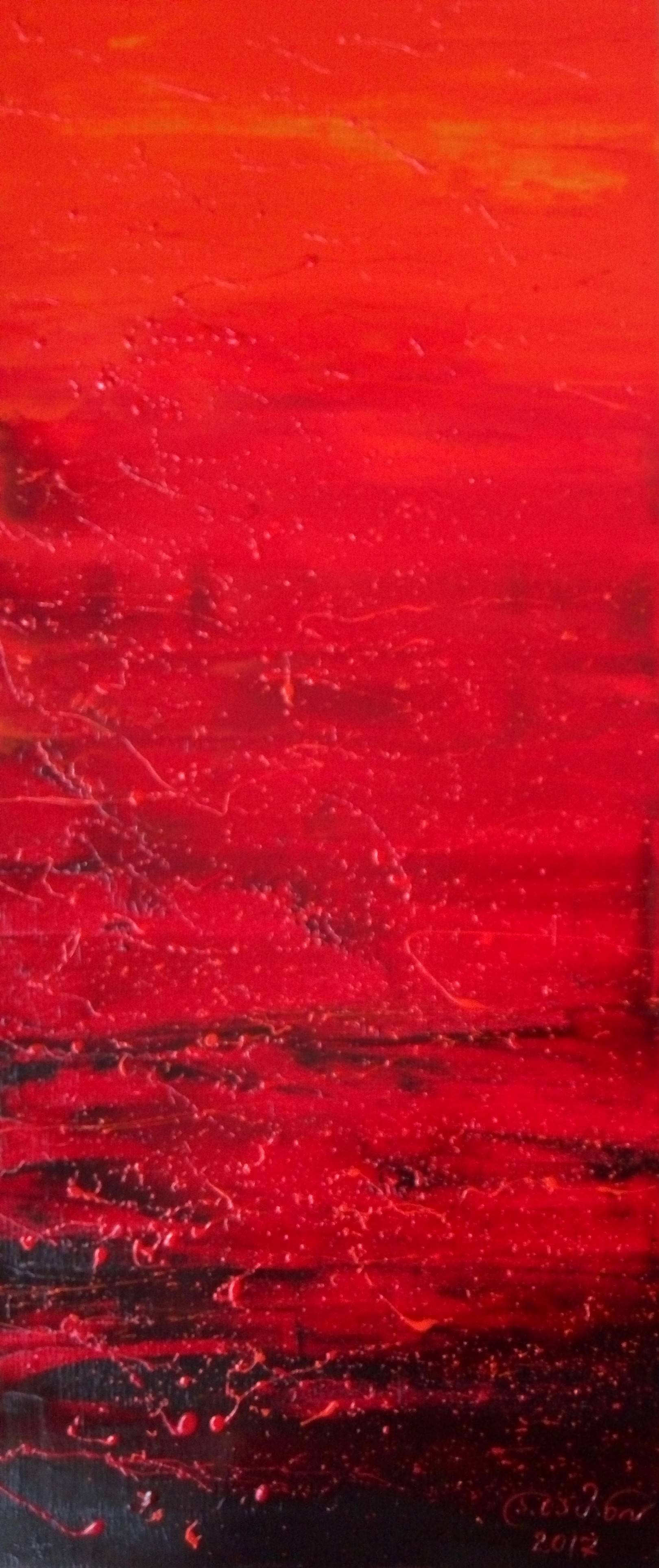 «Красный полдень»    холст, масло «Red midday»    oil on canvas                                                 70x30,  2017