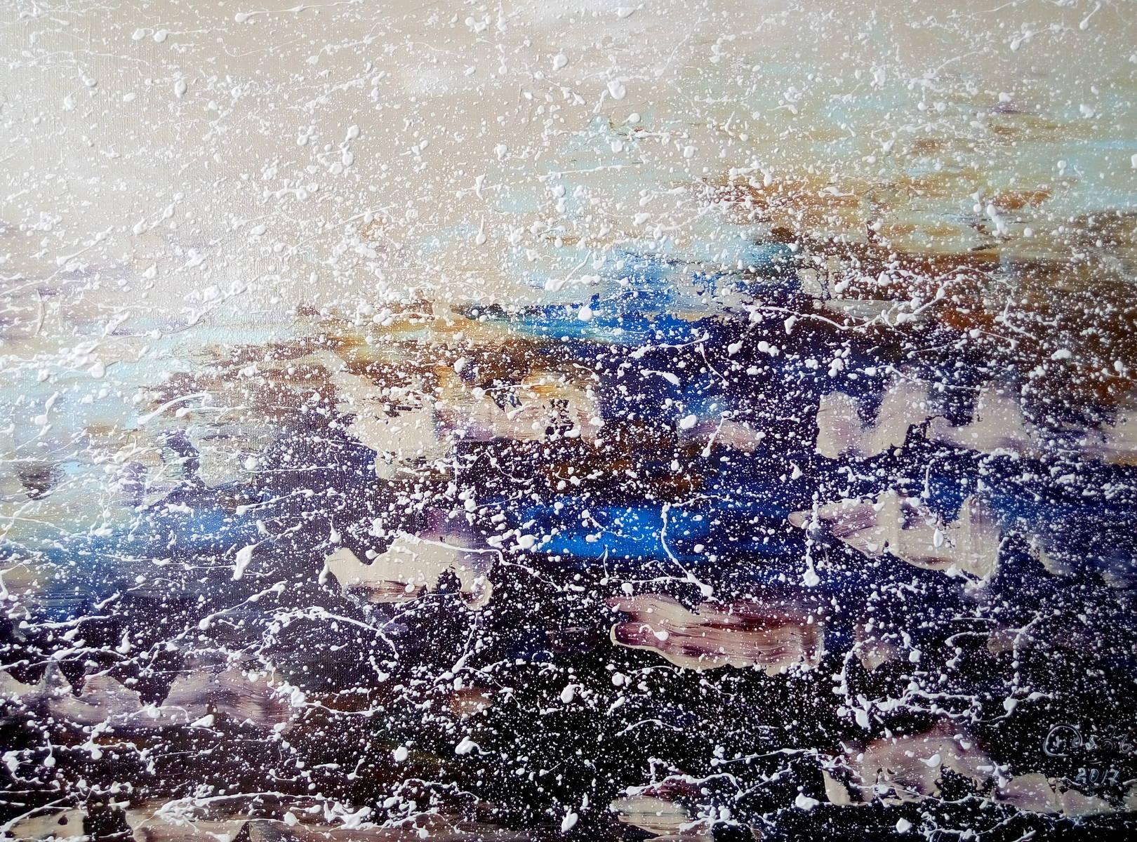 «Лазурный берег»                          холст, масло «Cote d'Azur»                                 oil on canvas                                                50x70,  2017