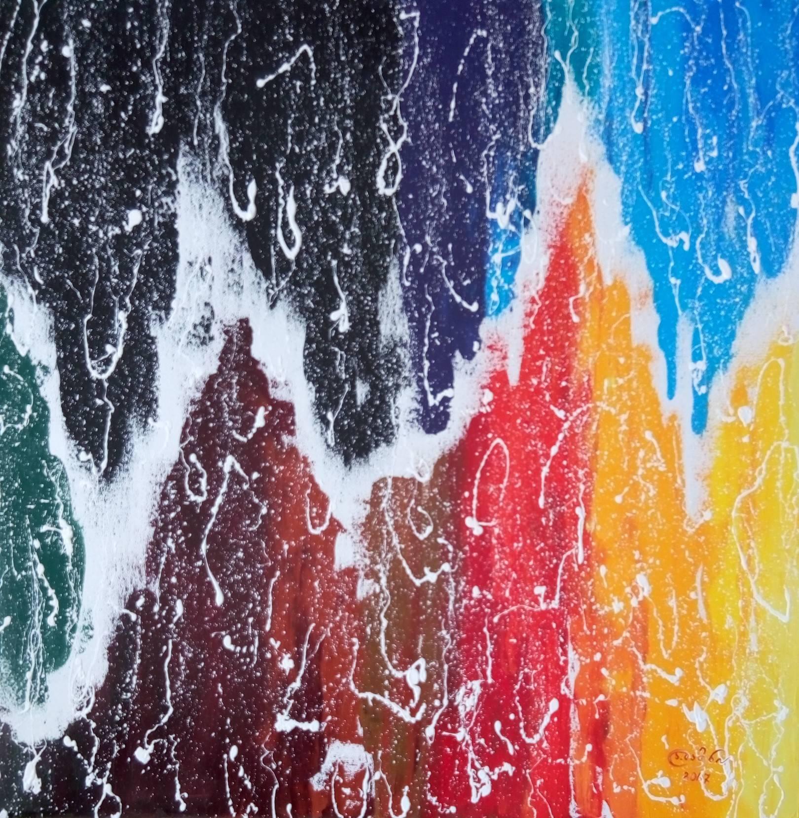 «Космическая пульсация»    холст, масло «Cosmic pulsation»                   oil on canvas  80x80, 2017