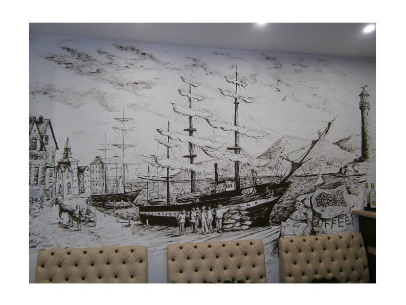 роспись стен кораболь