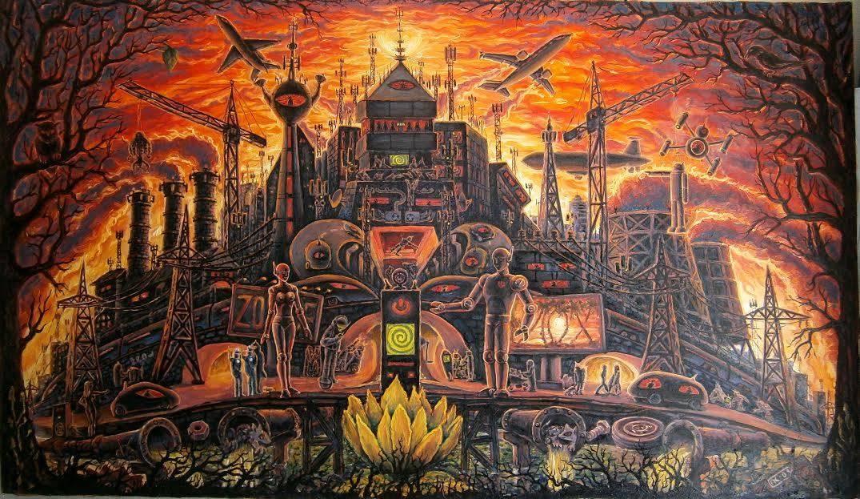 Картина темный город