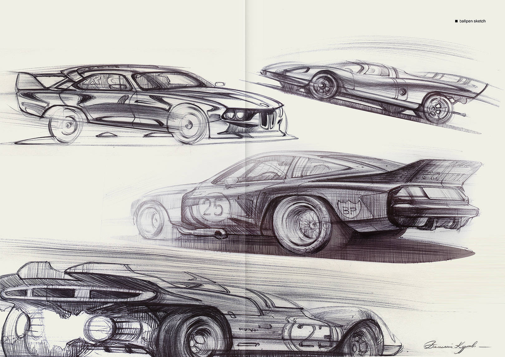 Automotive free sketches
